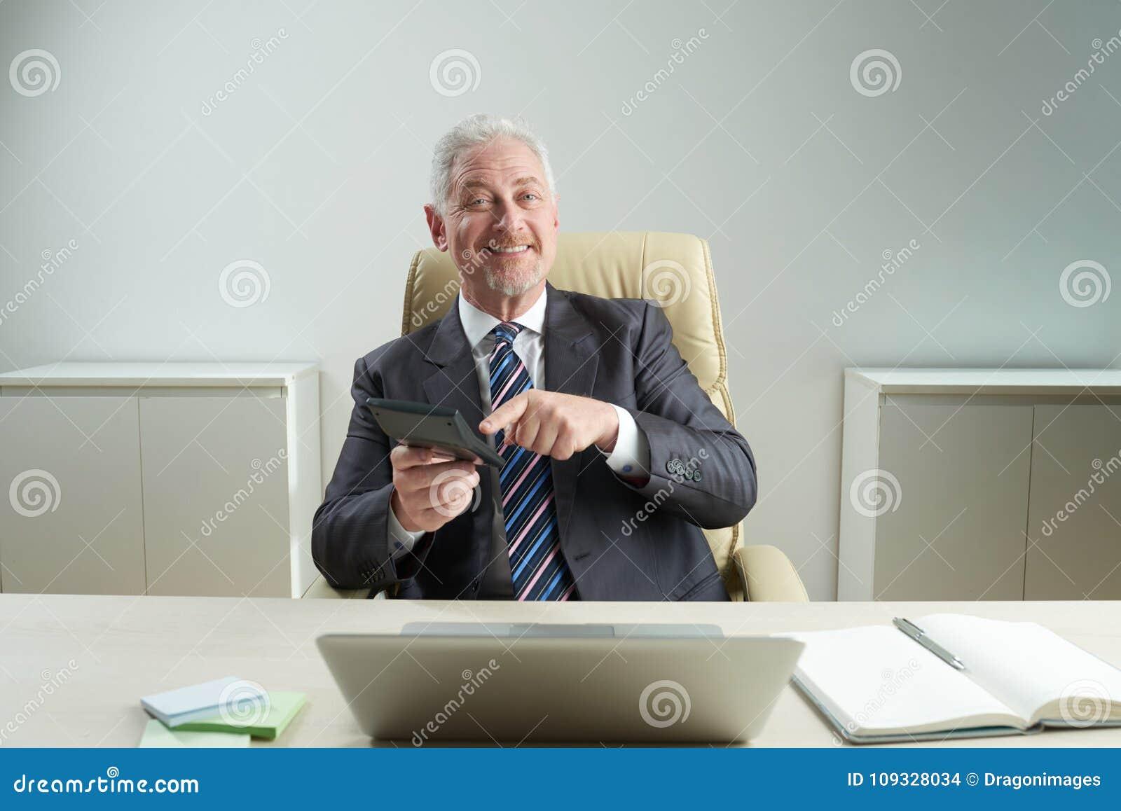 Retrato do gerente financeiro superior