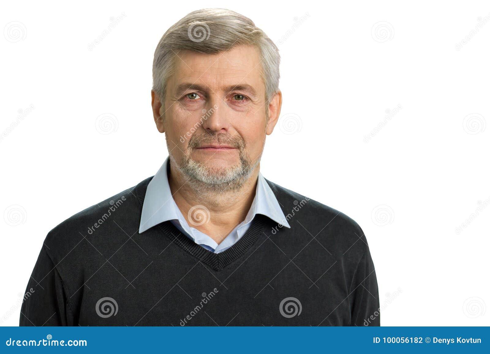 Retrato do homem cinzento do cabelo