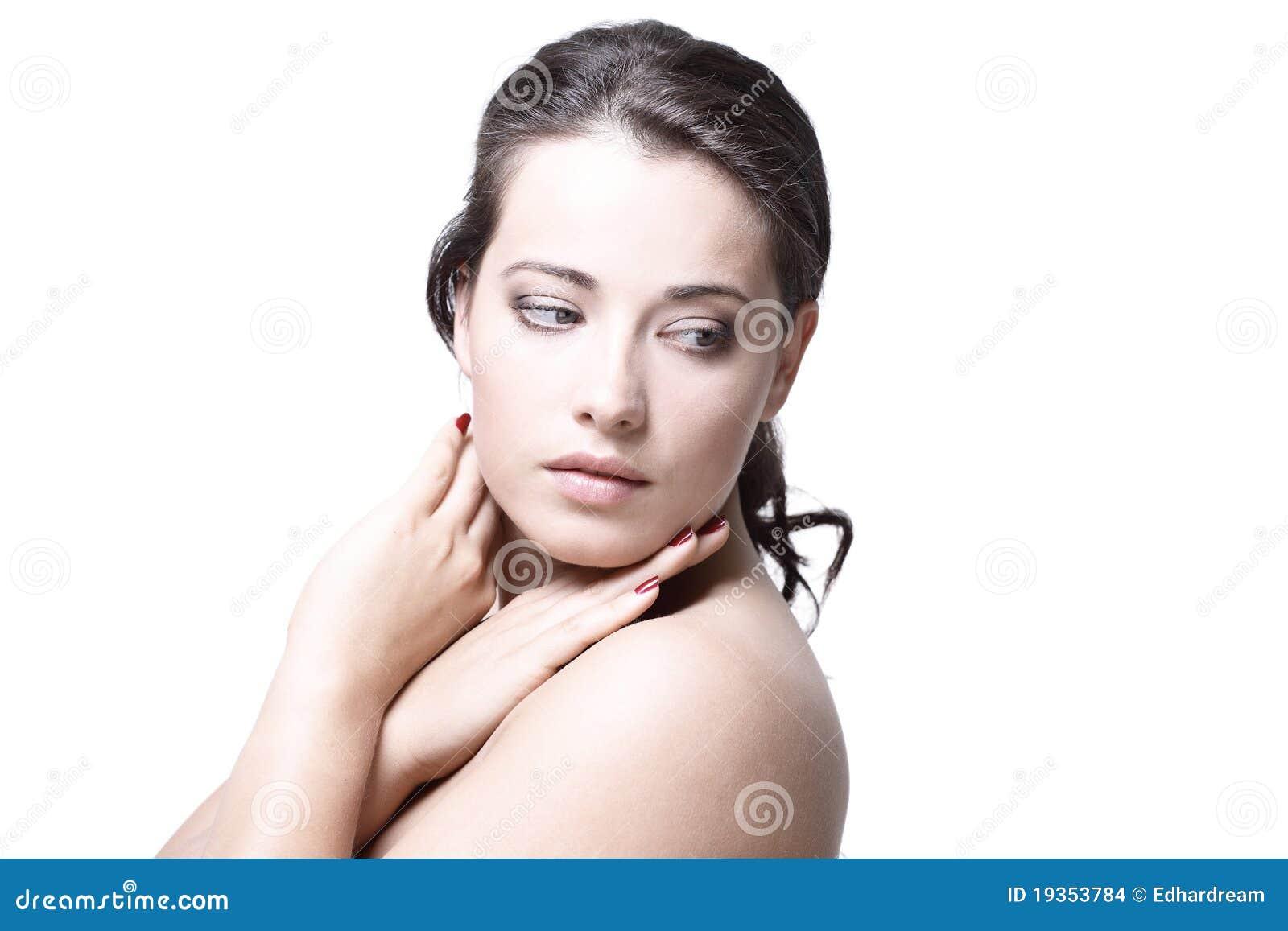 Retrato do modelo fêmea bonito