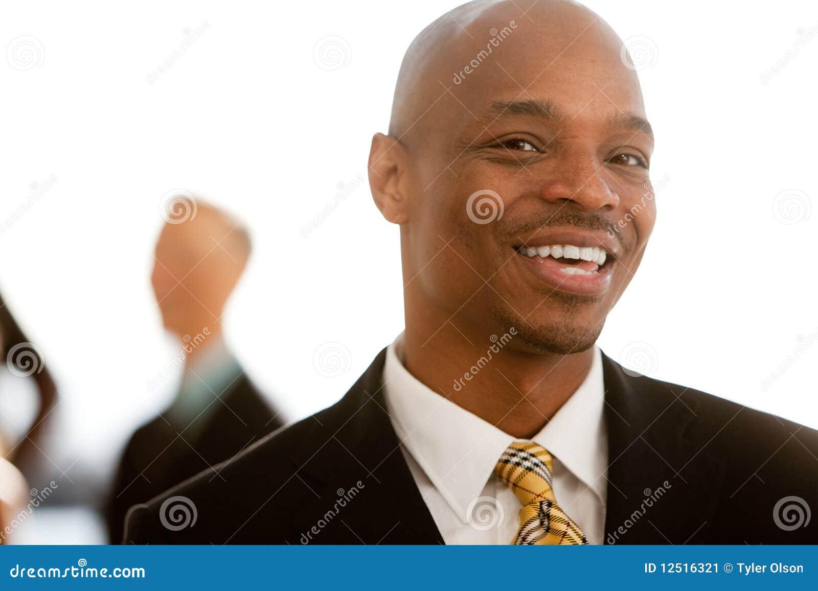 Retrato do negócio do americano africano