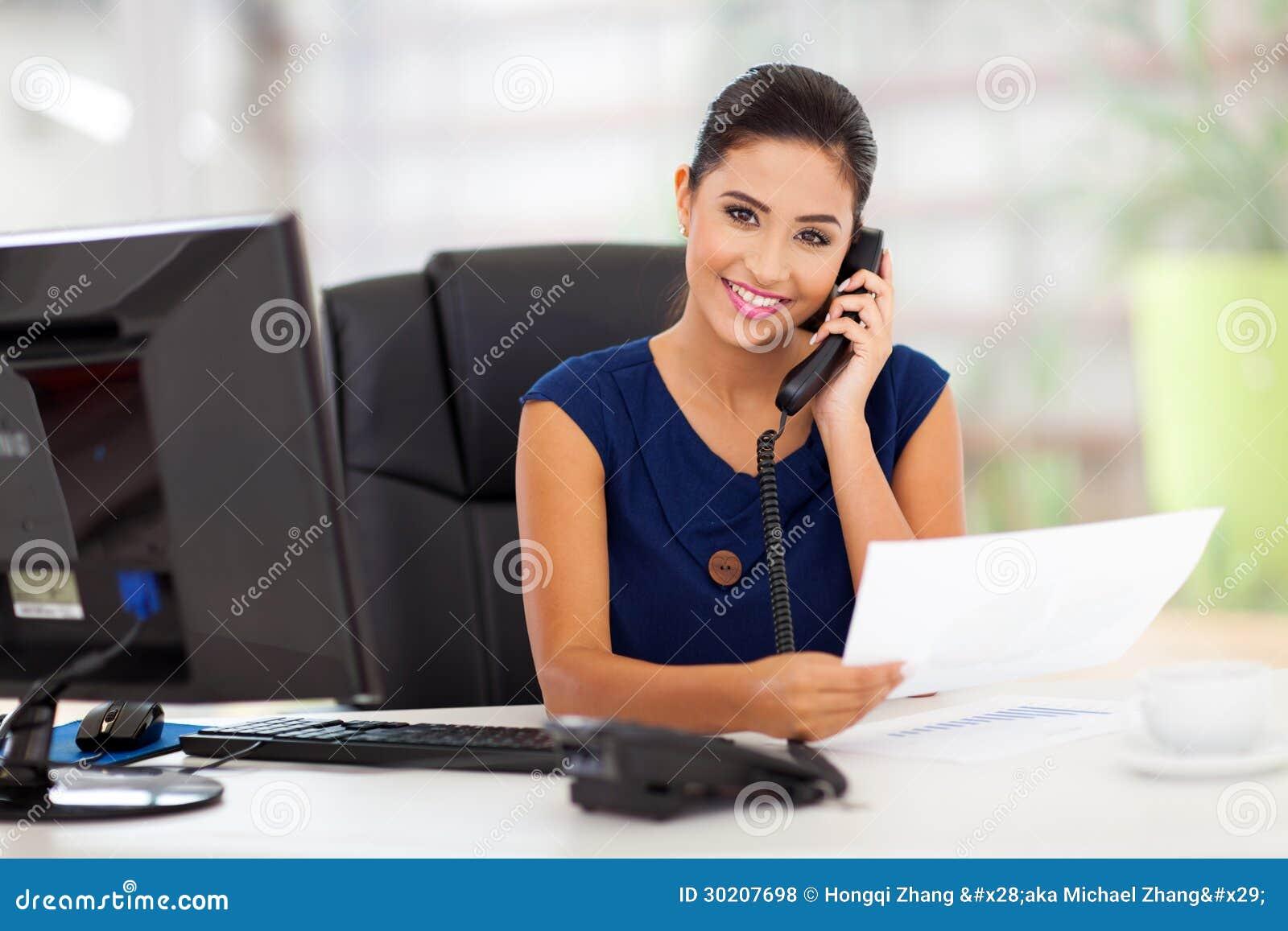 Telefone de resposta do secretário