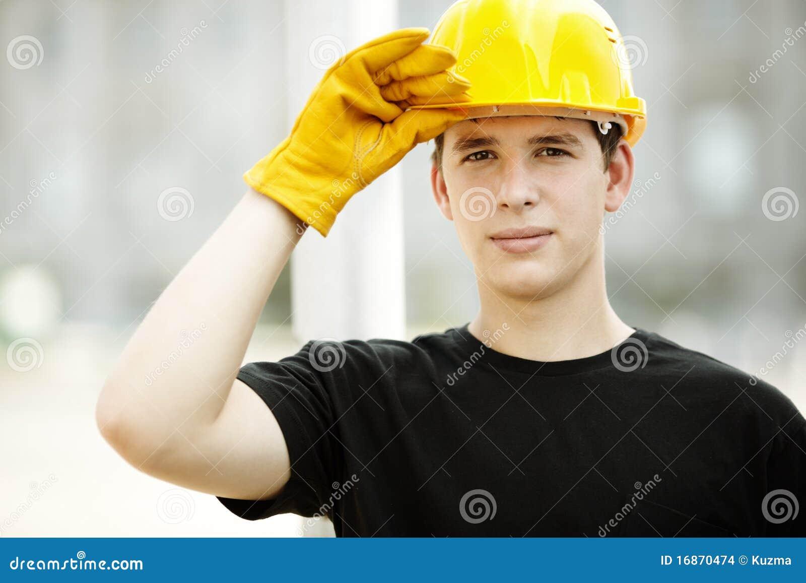 Retrato do trabalhador da construção