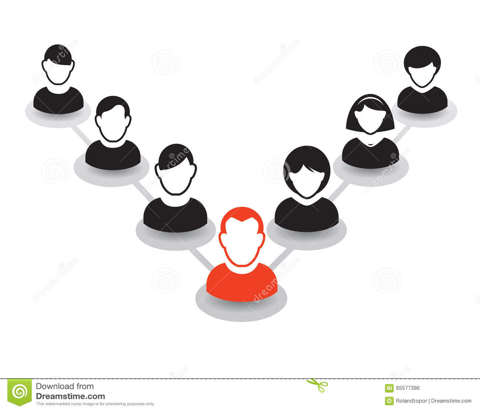 Retrato e ícone humanos Ilustração do vetor Equipe do escritório