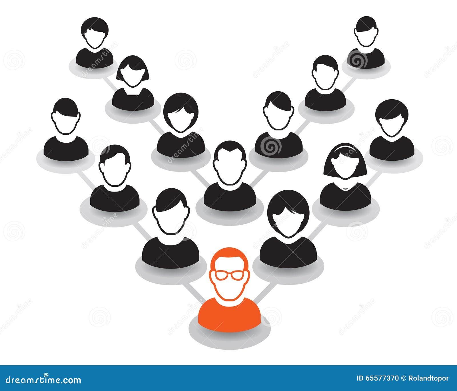 Retrato e ícone humanos Ilustração do vetor Equipe do escritório e Le