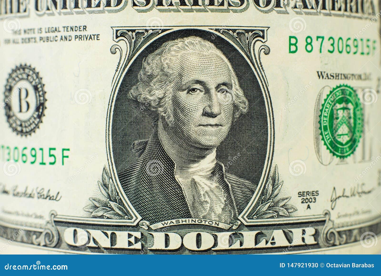 Retrato em uma nota de dólar
