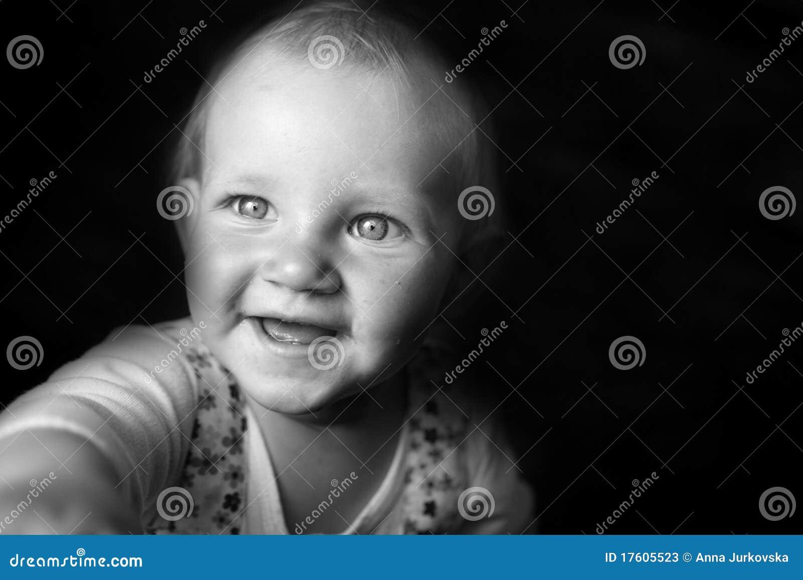 Retrato emocional da menina