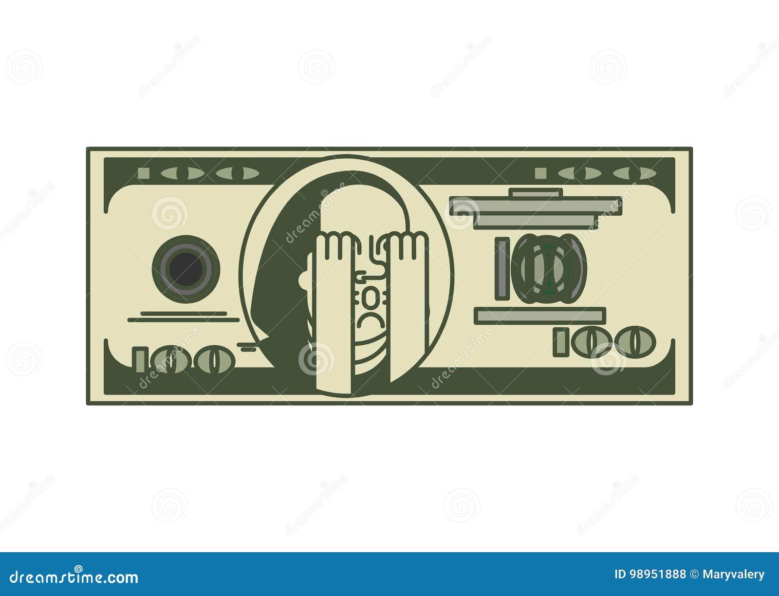 Retrato Franklin del dólar OMG Dinero de los E.E.U.U. Dinero en circulación americano Oh