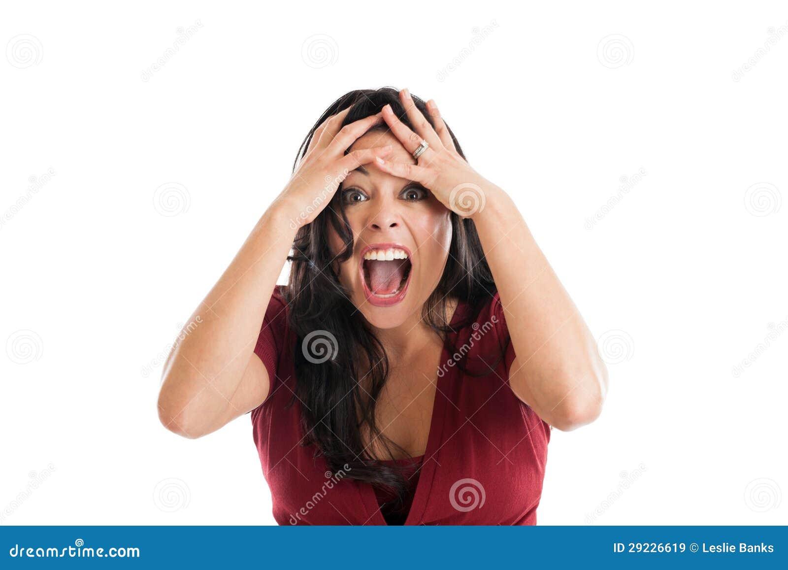 Download Retrato Insultado Da Mulher Imagem de Stock - Imagem de envelhecido, mãos: 29226619