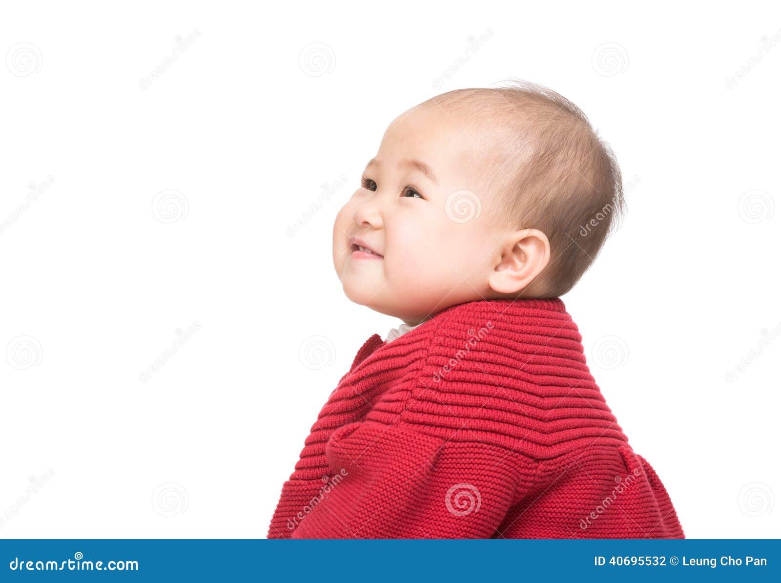 Retrato lateral do bebê