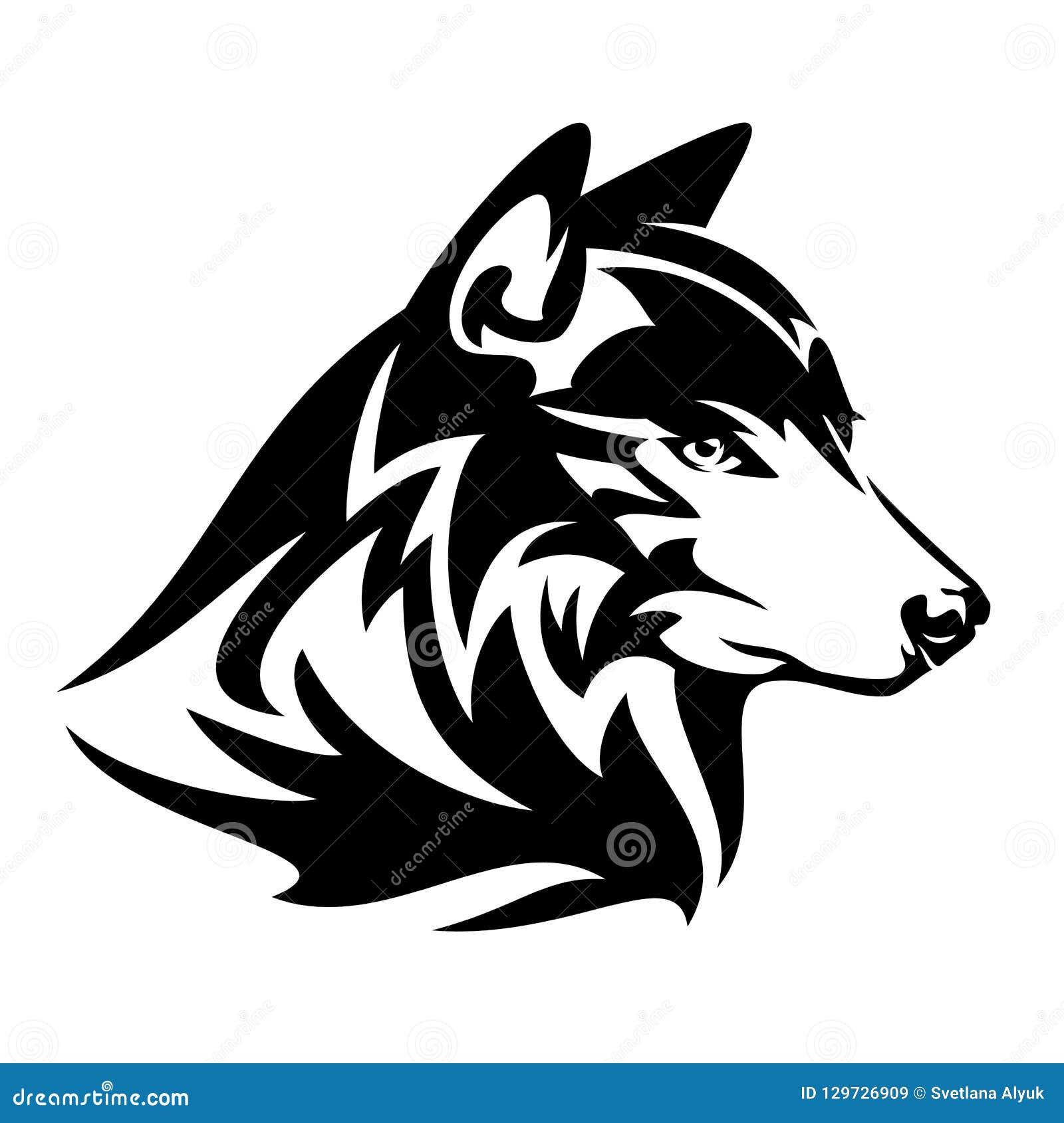 Retrato Principal Do Vetor Do Perfil Do Lobo Ilustracao Do Vetor