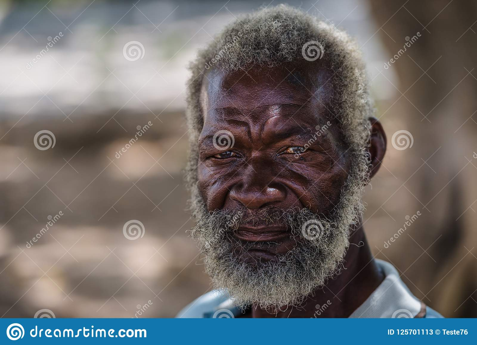 Retrato sênior Ancião preto de Havana, Cuba