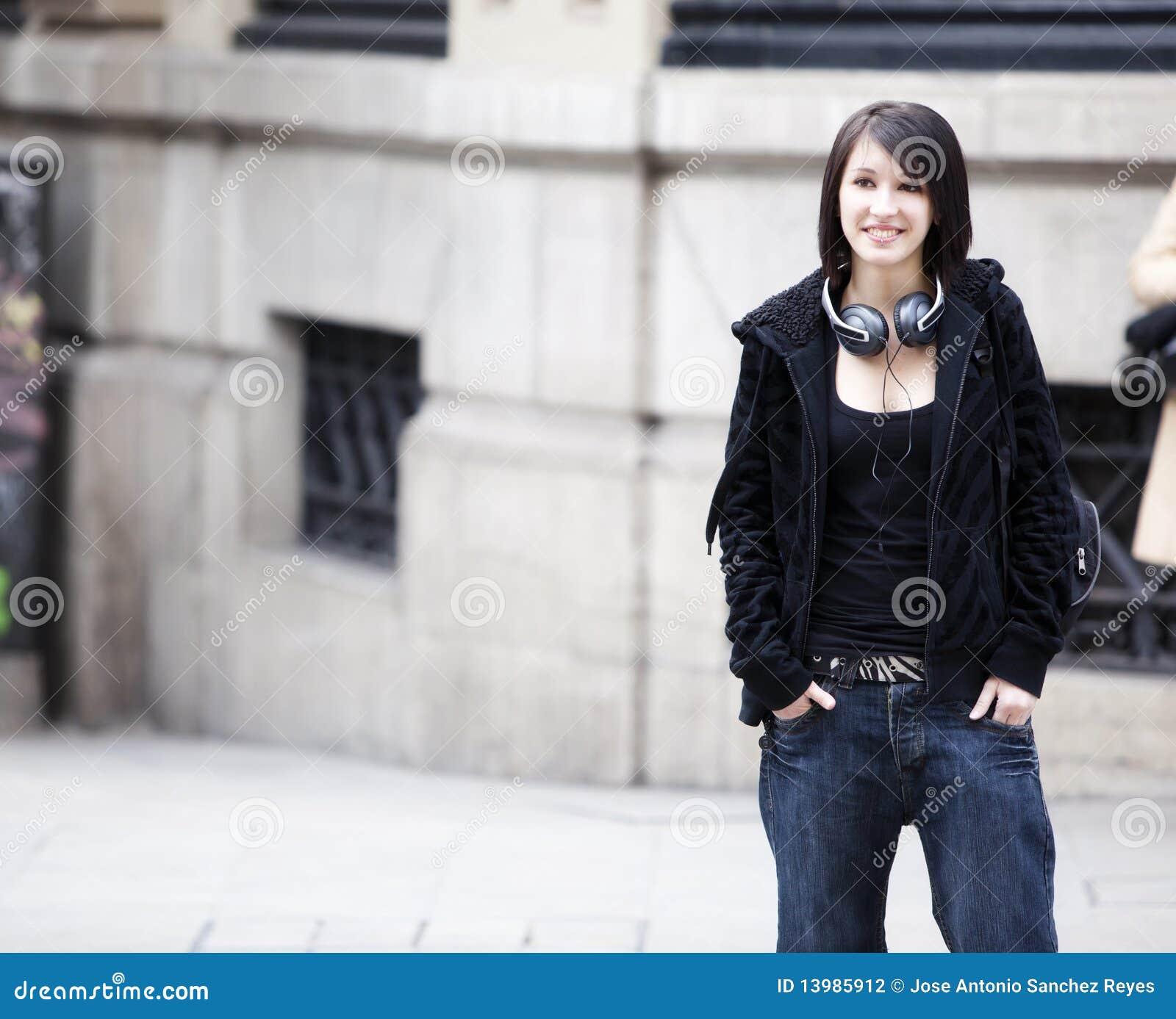Retrato urbano de la muchacha