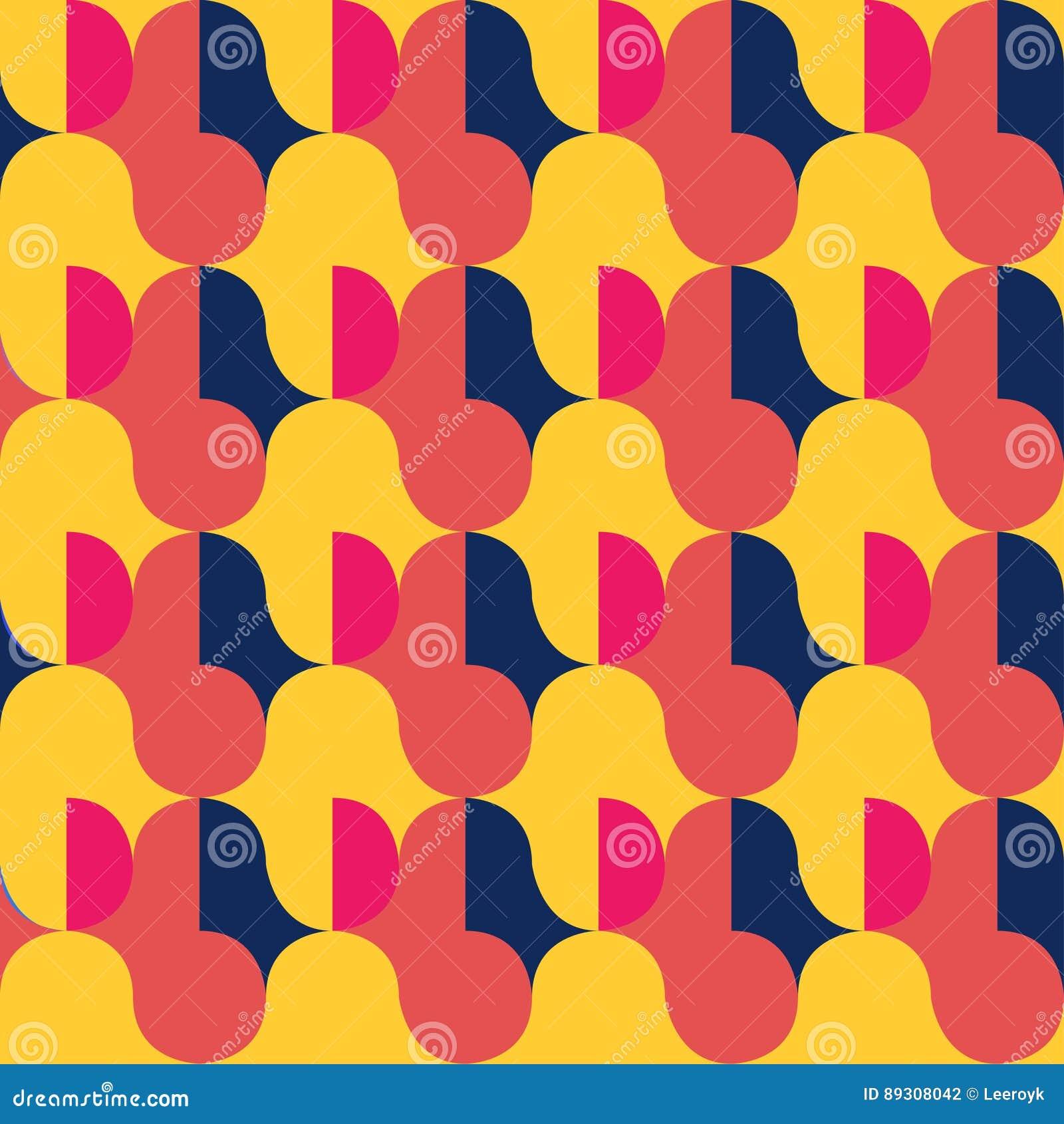 Retro abstract naadloos patroon