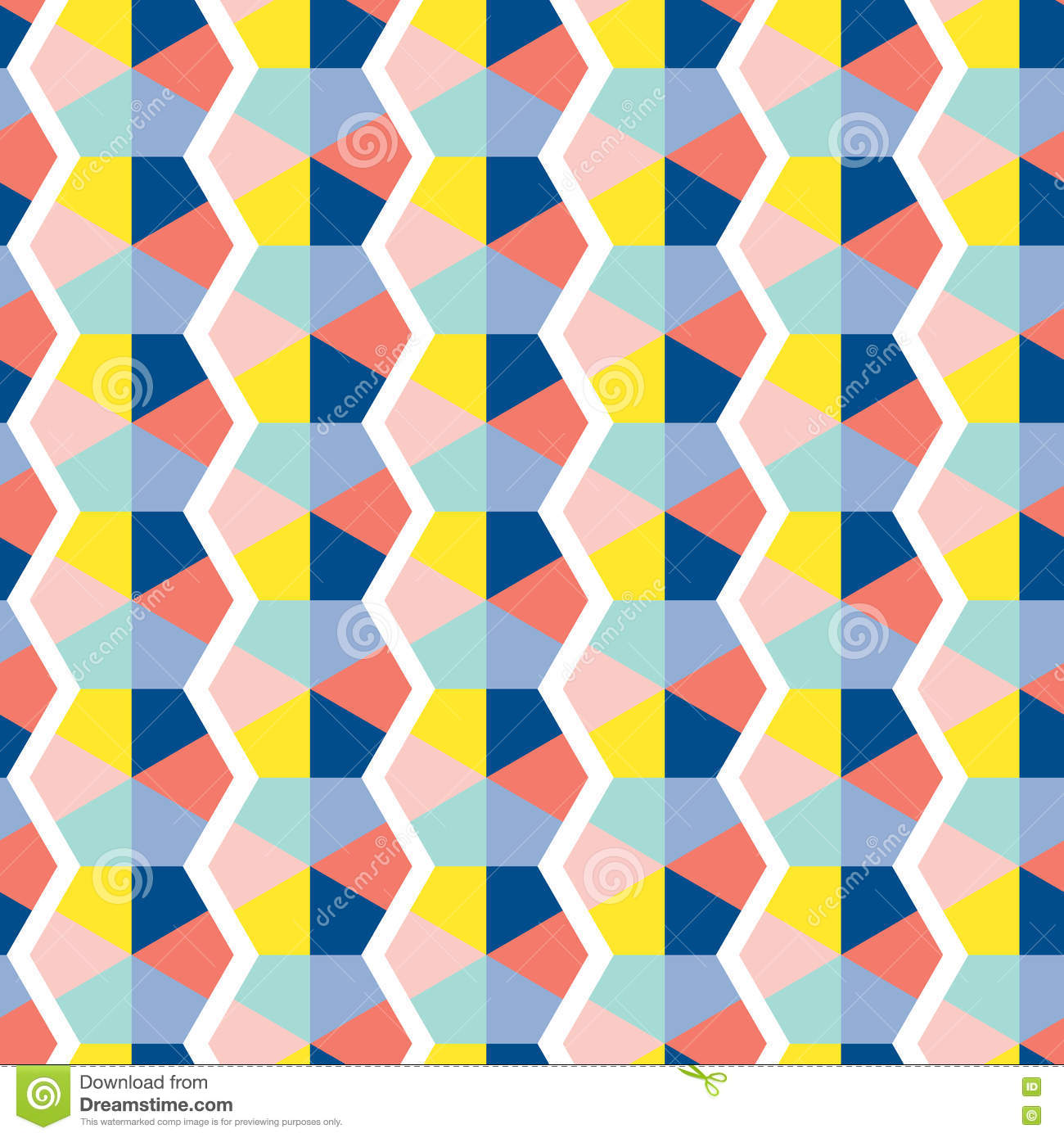 Retro abstract seamless pattern stock vector image 73784278 for Object pool design pattern