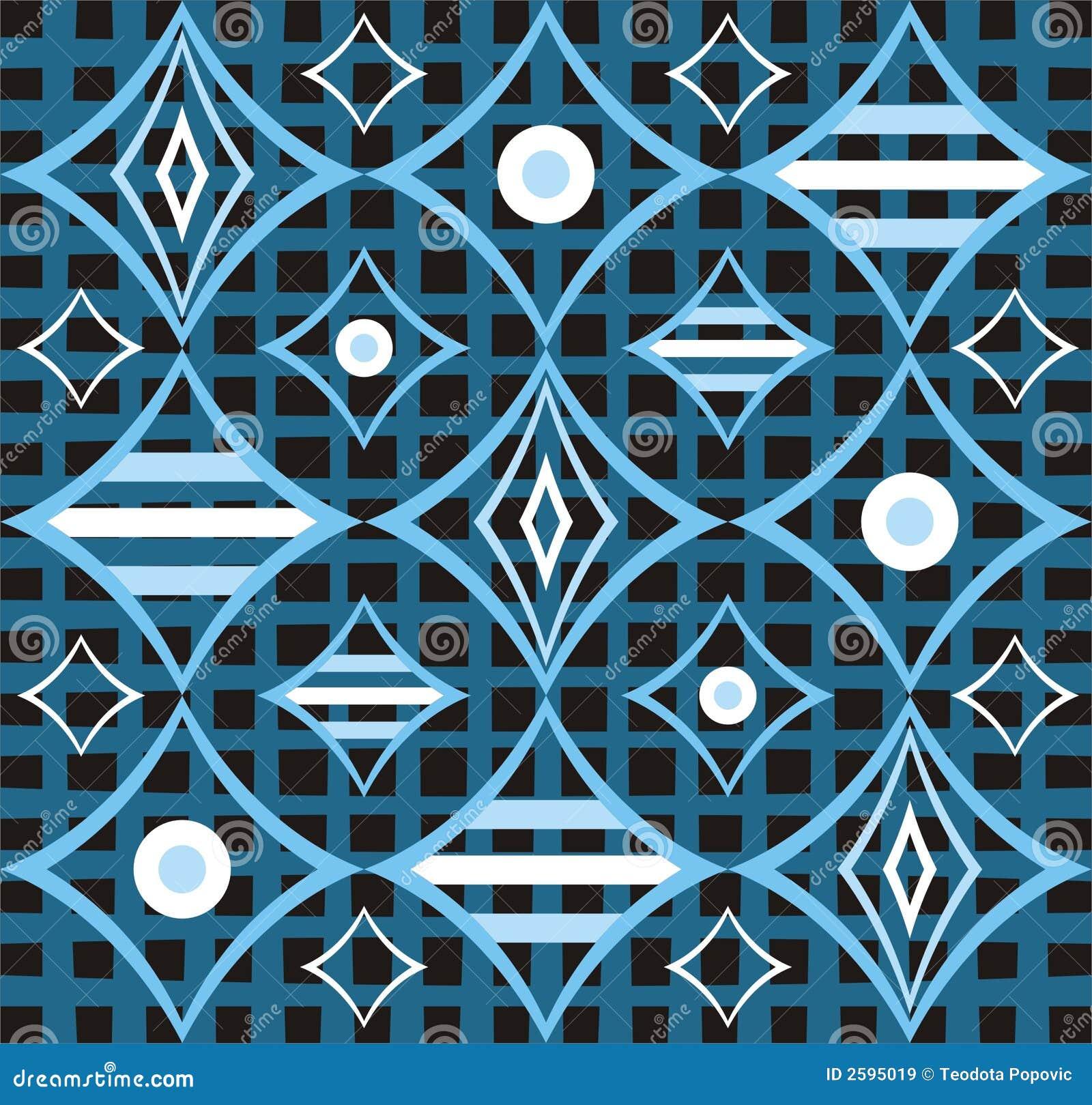 Retro abstrakt blå design