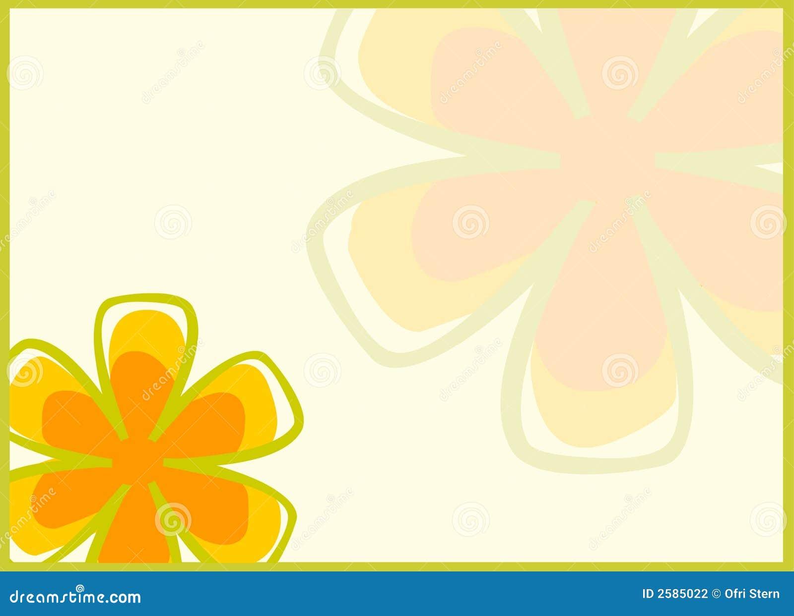 Retro achtergrond van Bloemen