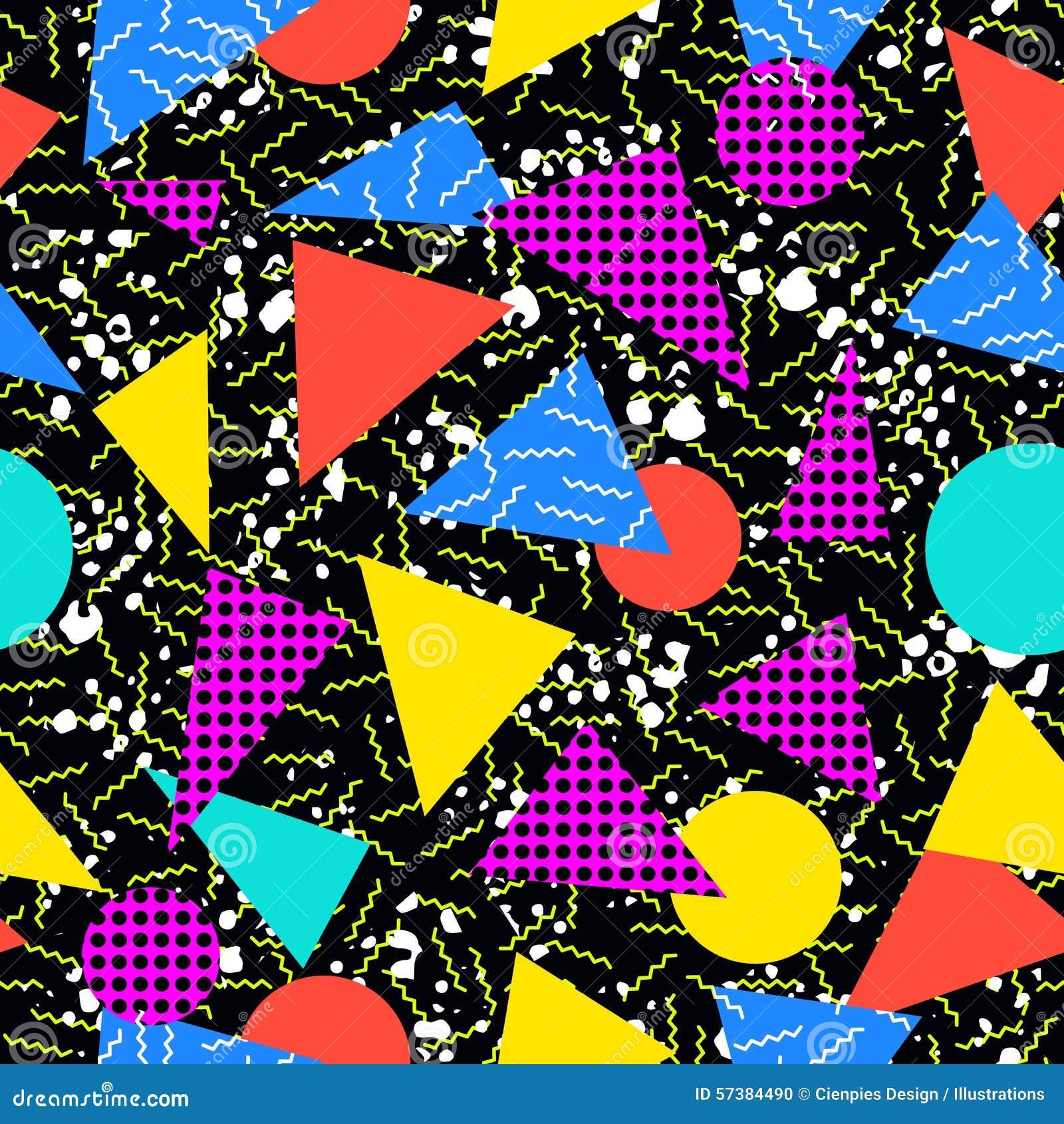 Retro achtergrond van het de jaren  80 naadloze patroon