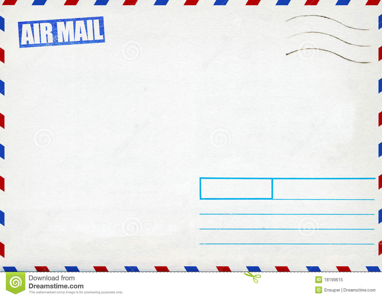 Superior Retro Air Mail Post Envelope