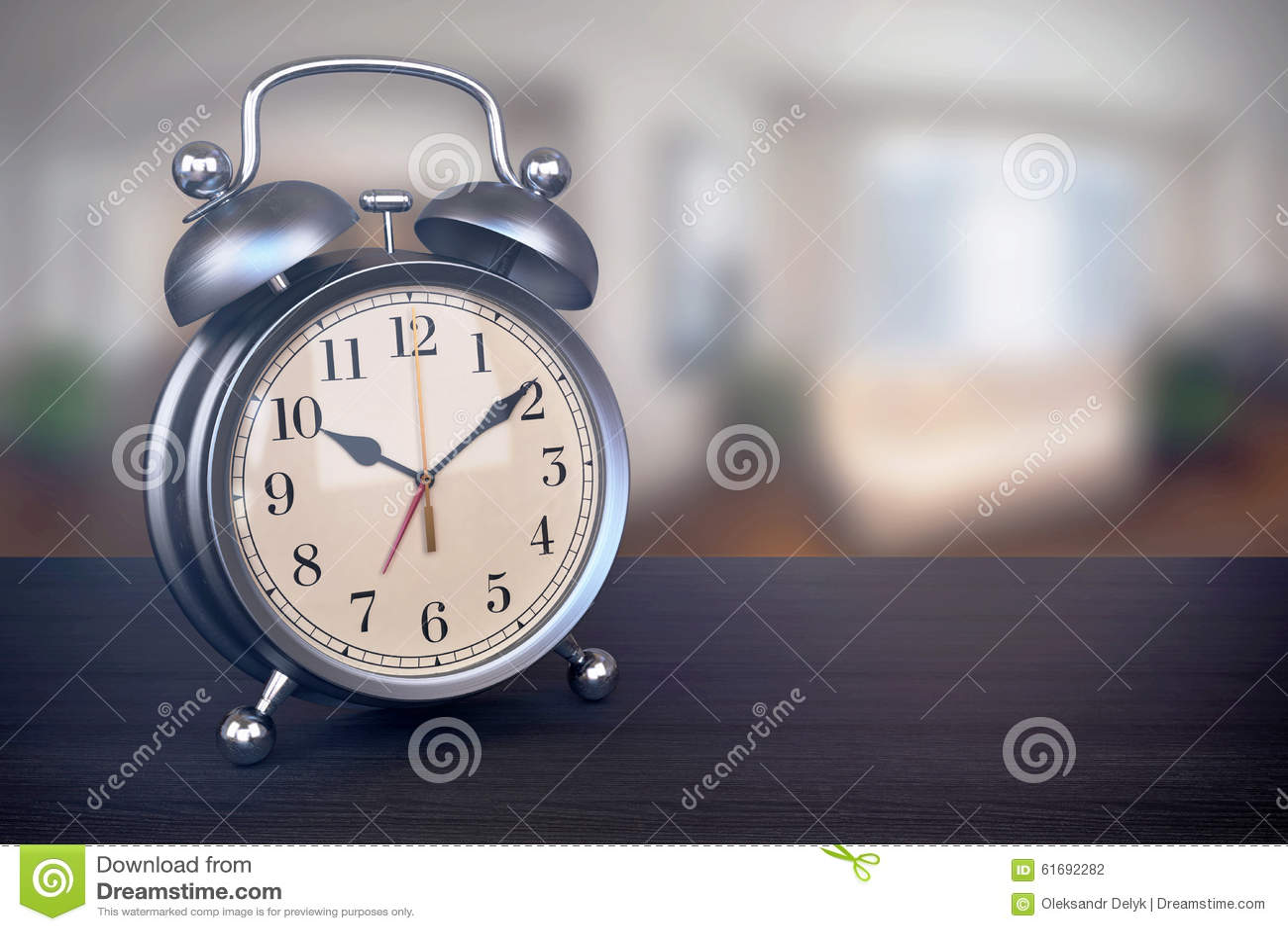 bedroom alarm clock. Royalty Free Illustration  Download Retro Alarm Clock On Bedside Table In Bedroom Stock