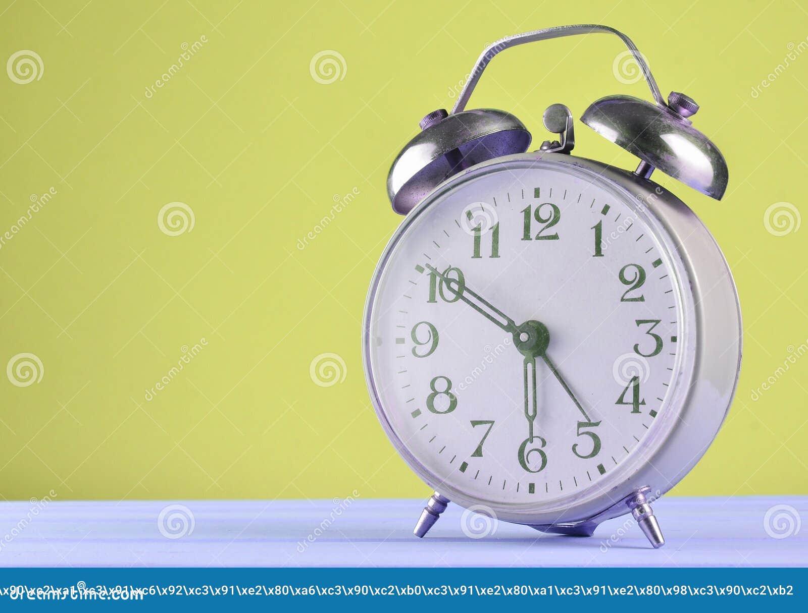 Retro Alarm Clock On A Pastel Background, Copy Space ...