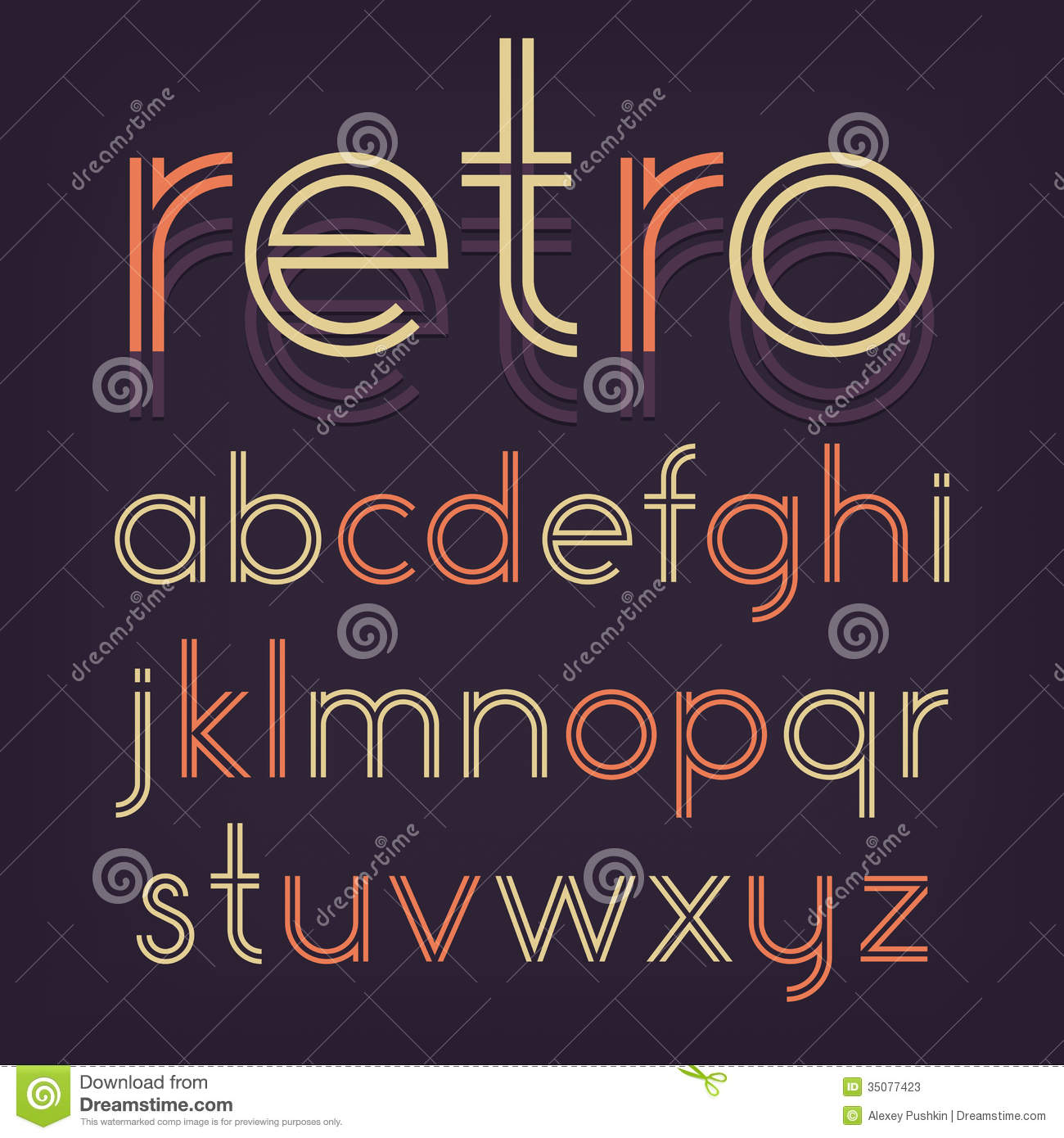 Retro Alphabet Stock Photos Image 35077423