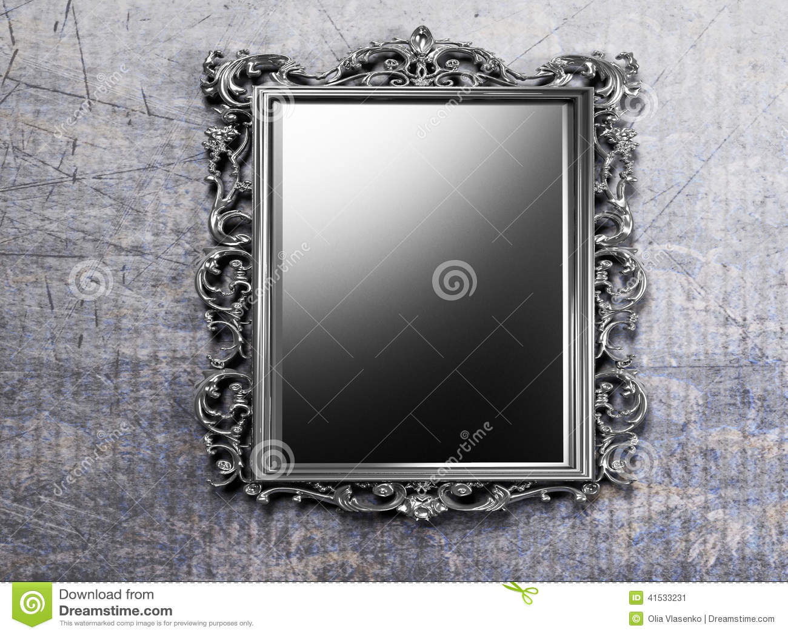 Stock illustration retro antique mirror wall rendering image41533231