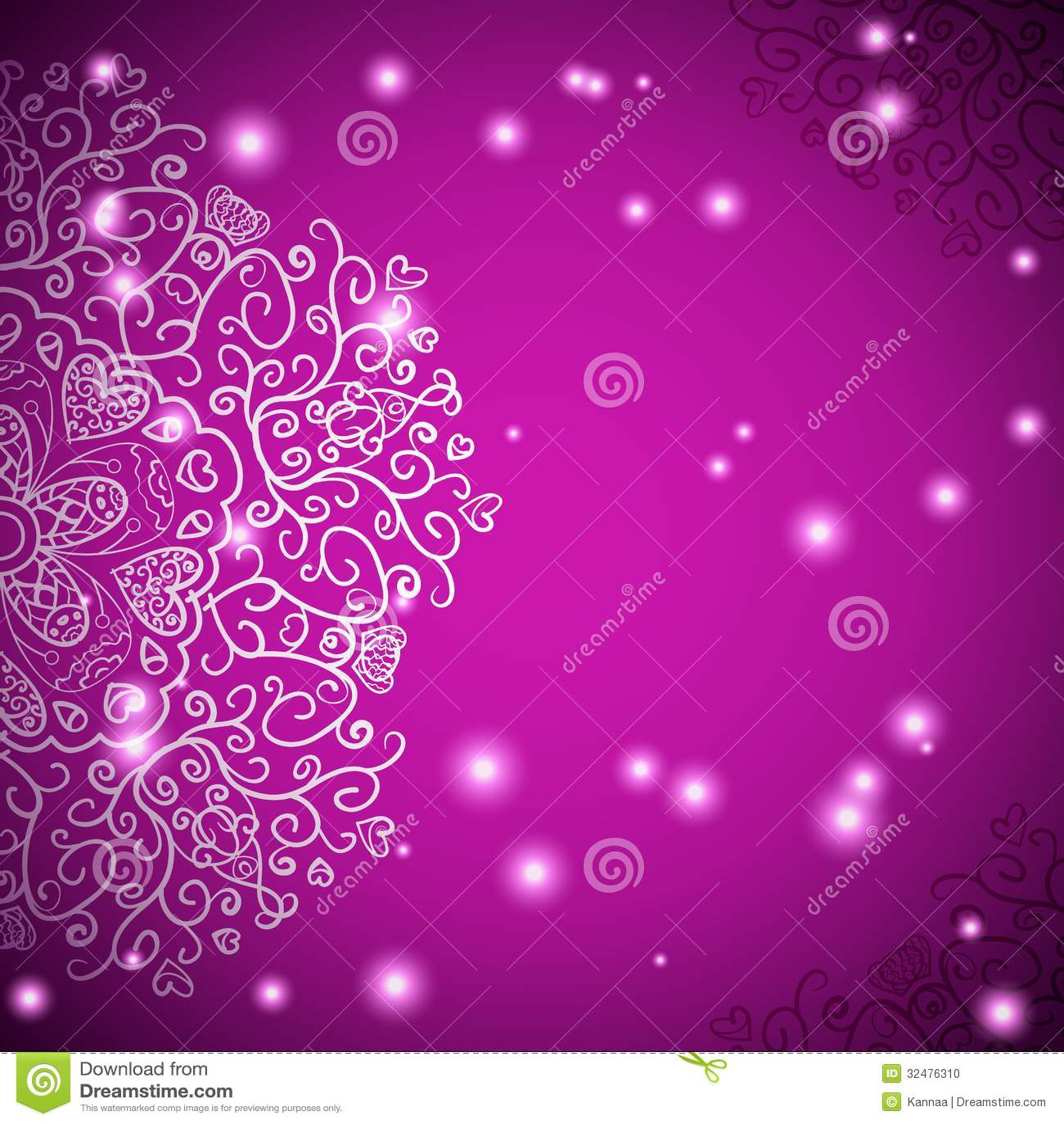 Vector Illustration Web Designs: Retro Antique Ornament Purple Background With Stock Vector