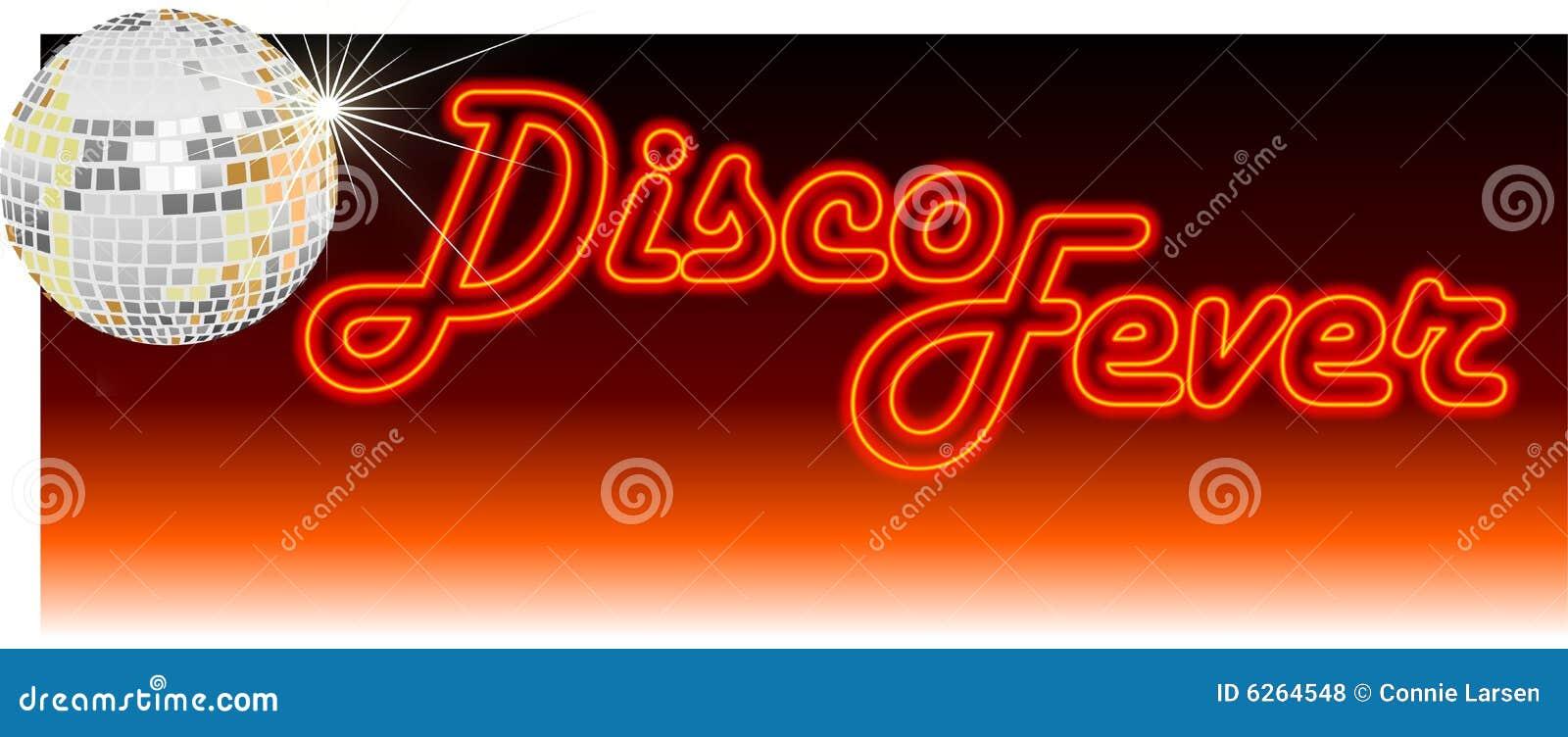 Retro arancio di febbre della discoteca