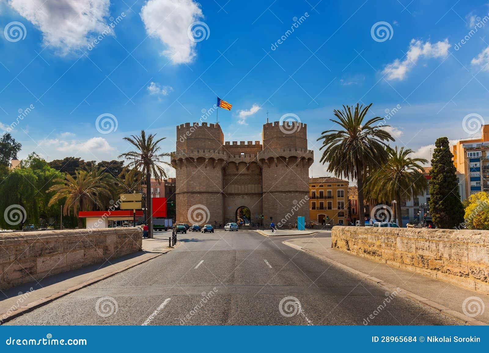 Retro architektura przy Walencja Hiszpania