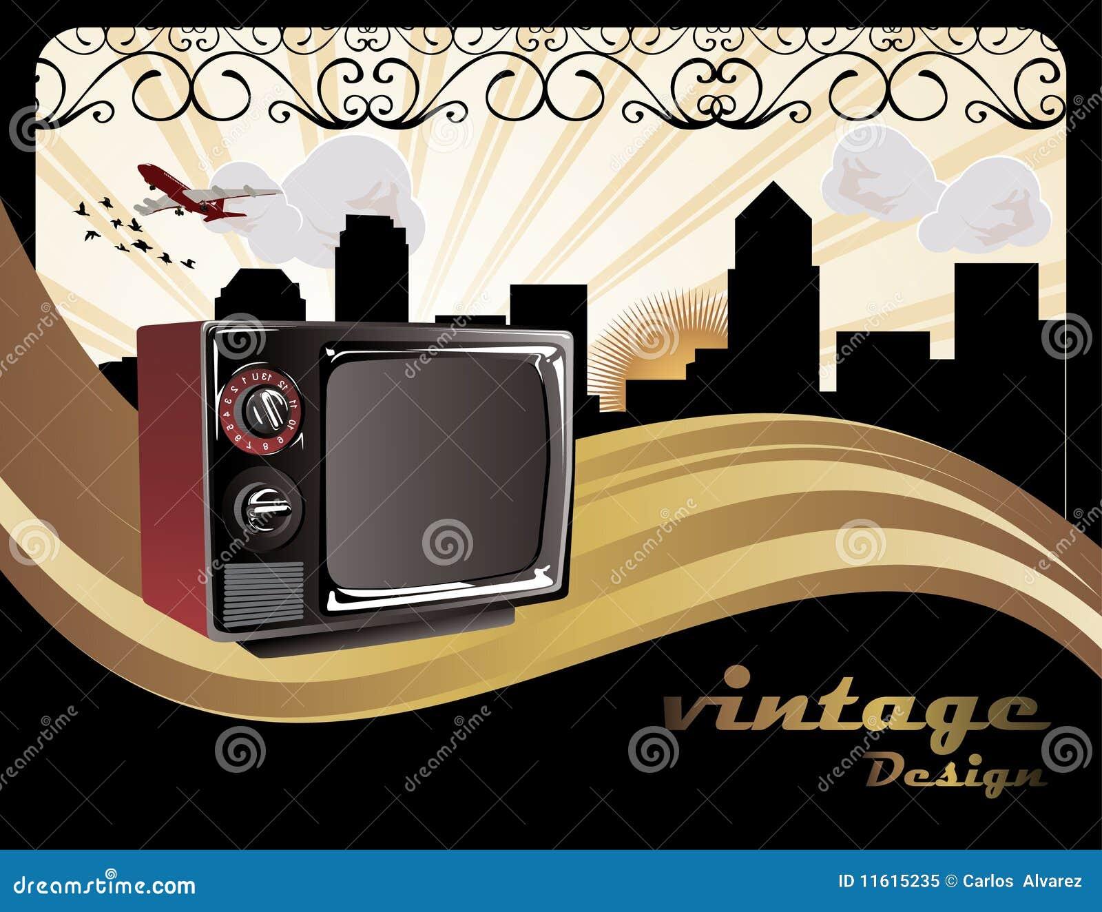Retro Art Deco Music Poster Royalty Free Stock Photo