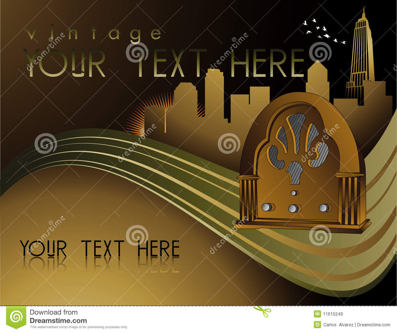 Retro Art Deco Music Poster Royalty Free Stock Images