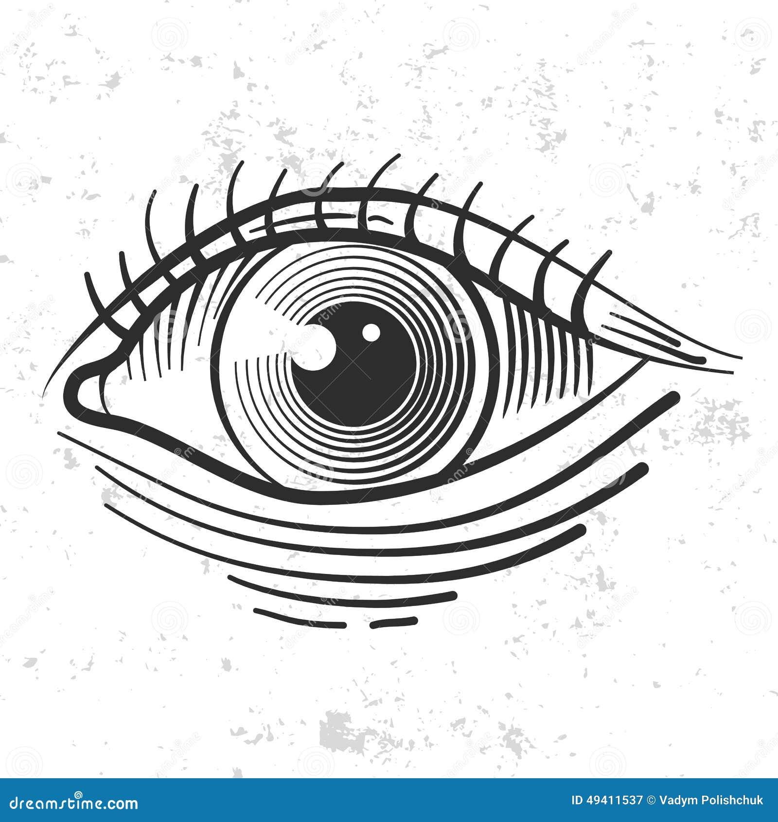 Download Retro- Auge der Weinlese vektor abbildung. Illustration von hippie - 49411537