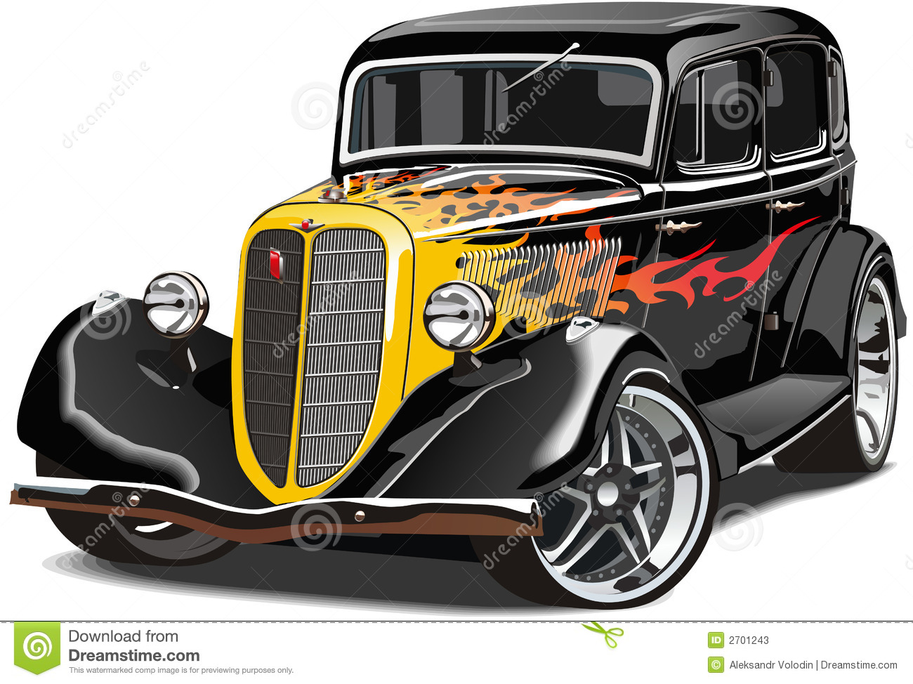 Front End Vector Pictures Of Old Cars