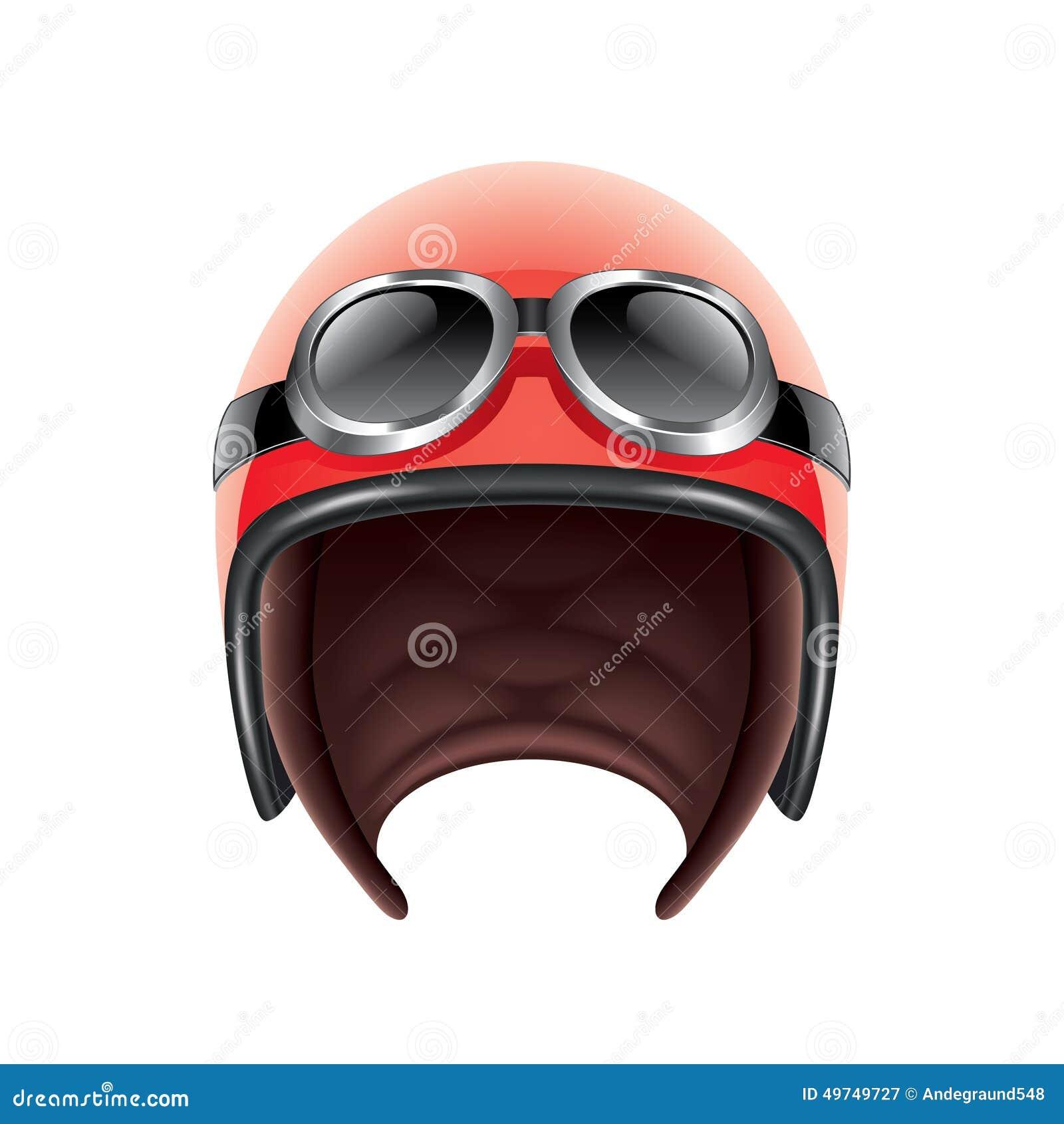 Retro Aviator Helmet Isolated On White Vector Stock Vector - Image ...