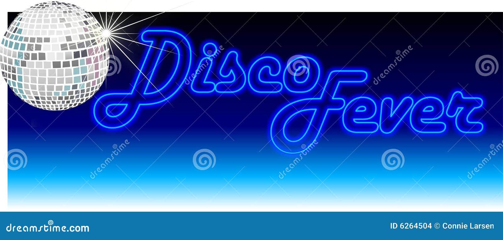 Retro azzurro di febbre della discoteca