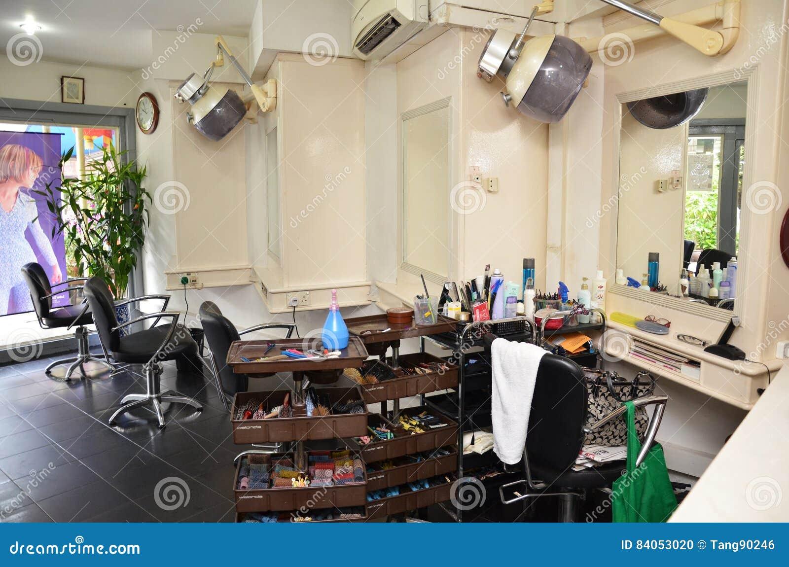 Retro Barber Shop In Singapore Editorial Image Image Of Equipment