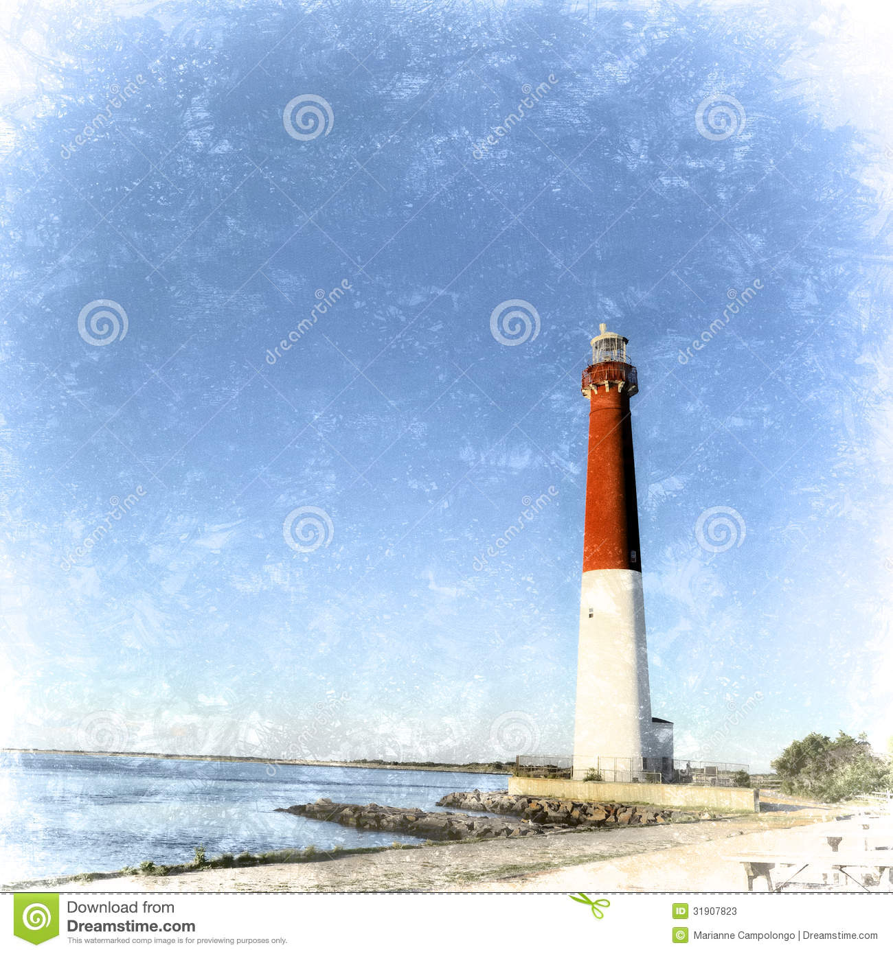 Island Beach State Park Nj: Retro Barnegat Lighthouse, Barnegat Light, New Jersey