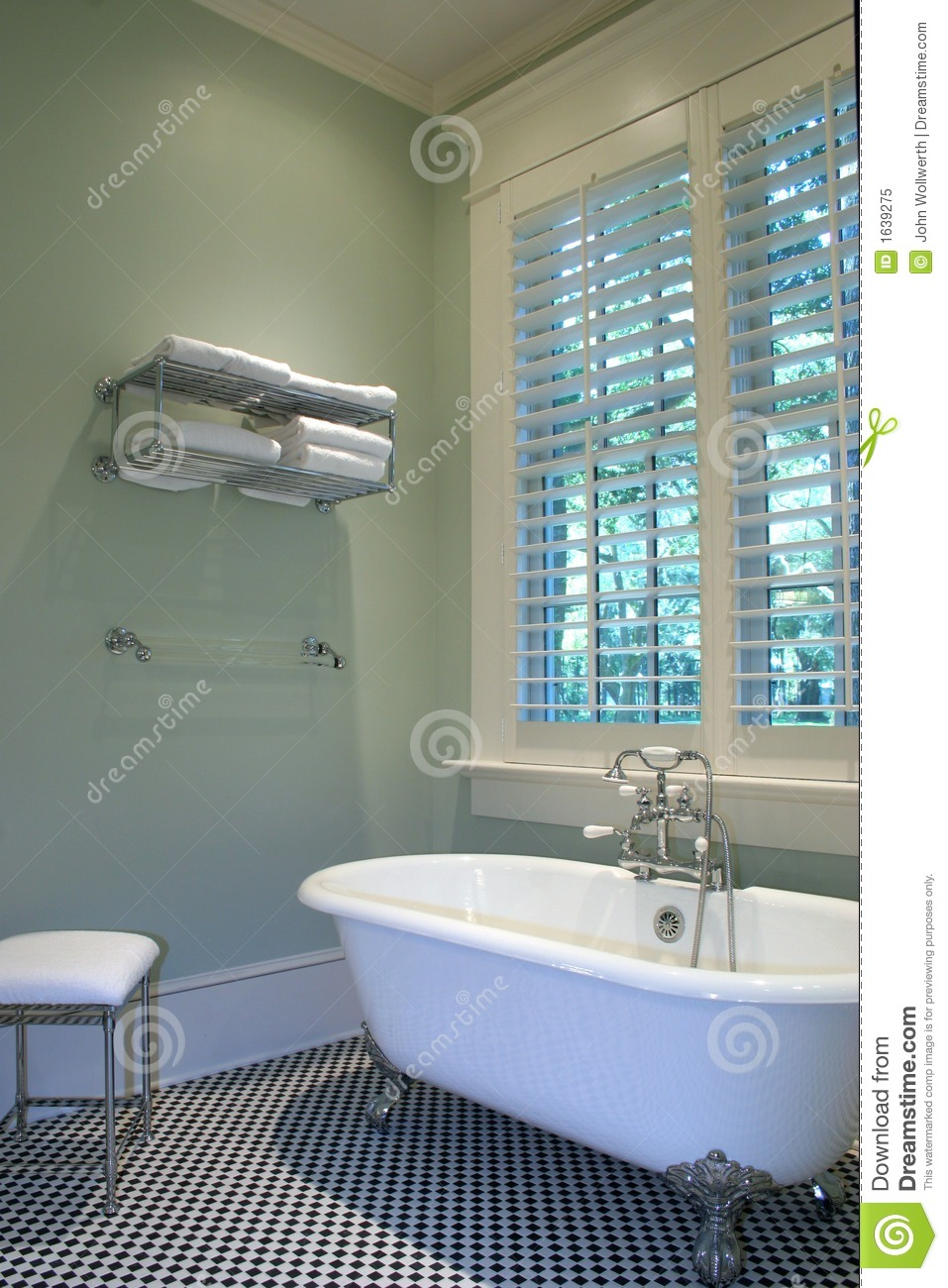 retro bathroom royalty free stock photo