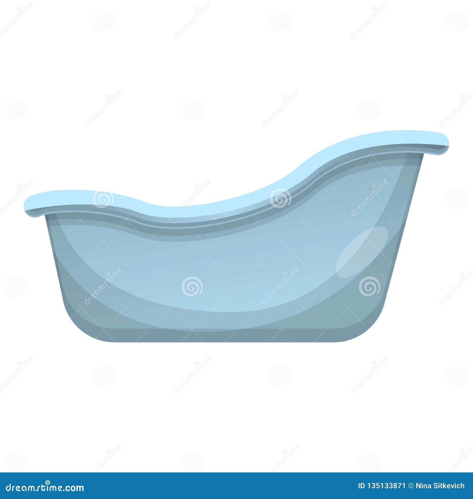 Retro Bathtub Icon Cartoon Style Stock Vector
