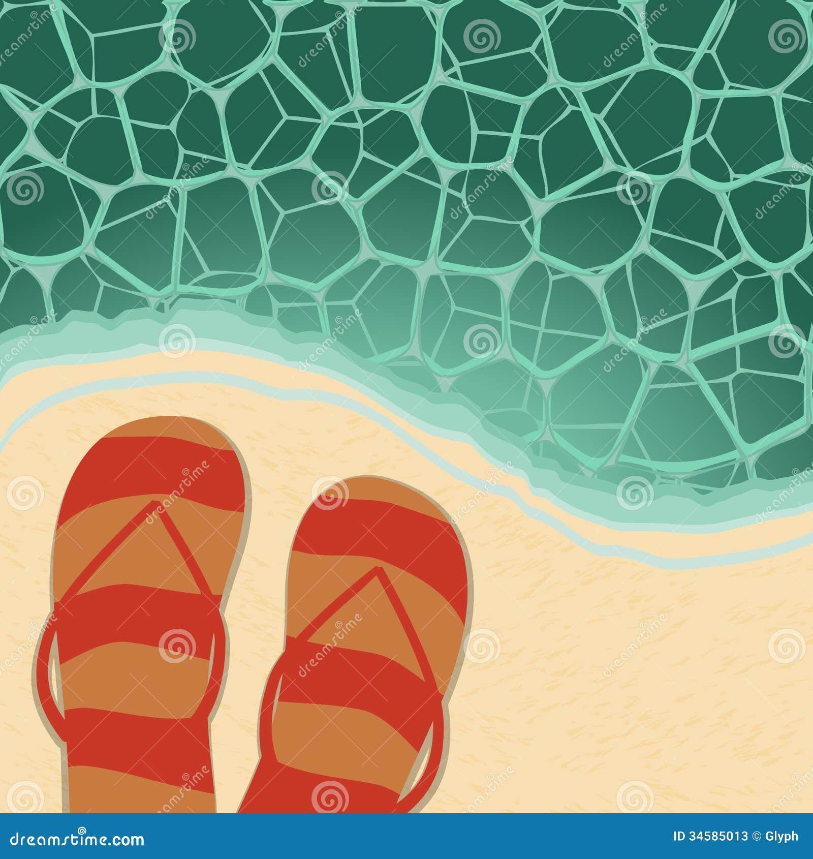 Retro Beach Illustration Stock Photos - Image: 34585013