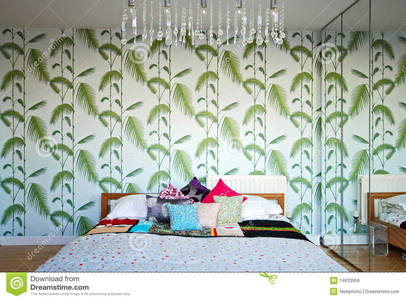 Retro Bedroom With A 70 39 S Design Feeling Royalty Free Stock Image Image