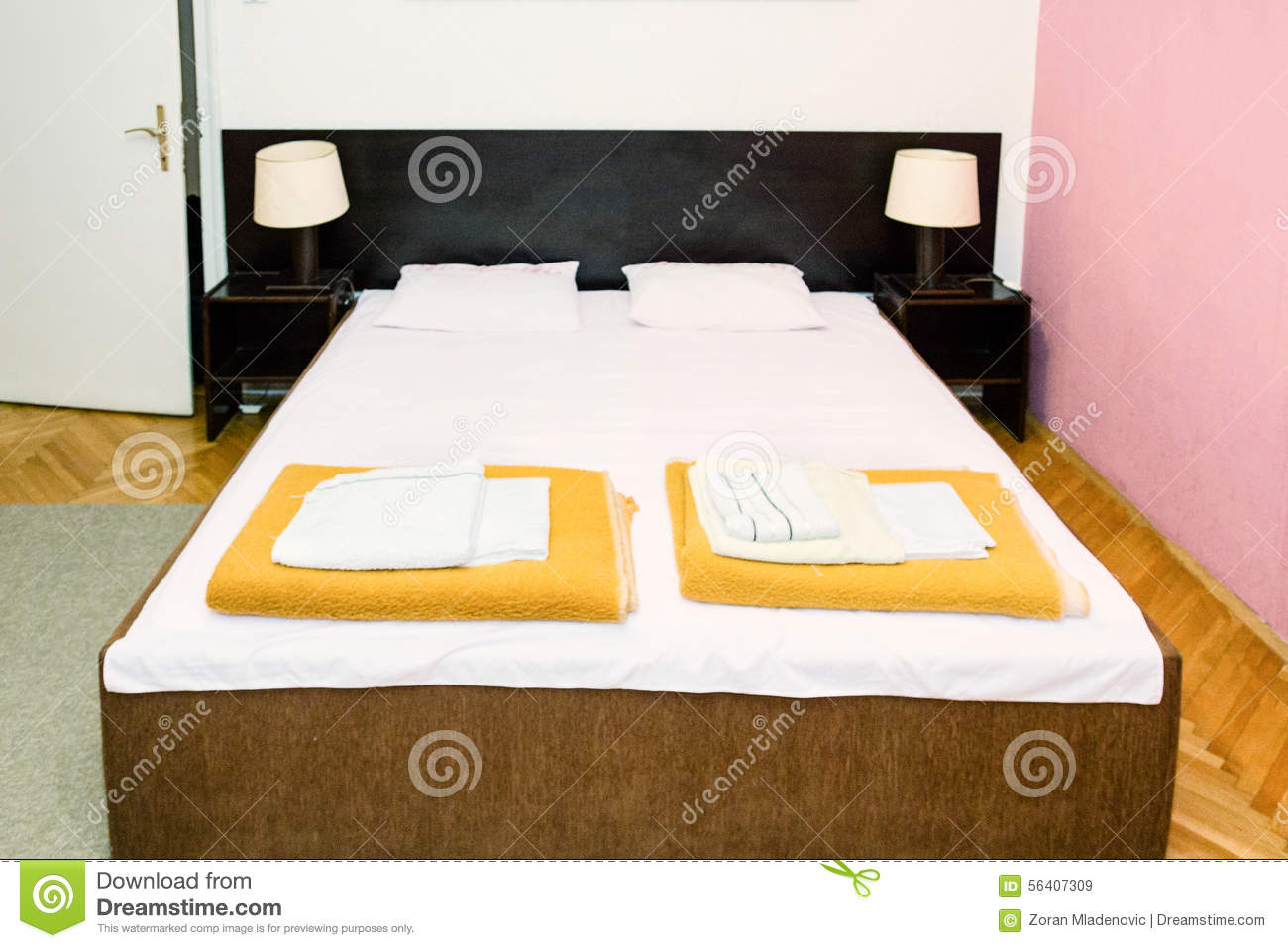 Retro bedroom interior double bed in vintage indoor room stock illustration image 56407309 - Wash white sheets keep fresh ...