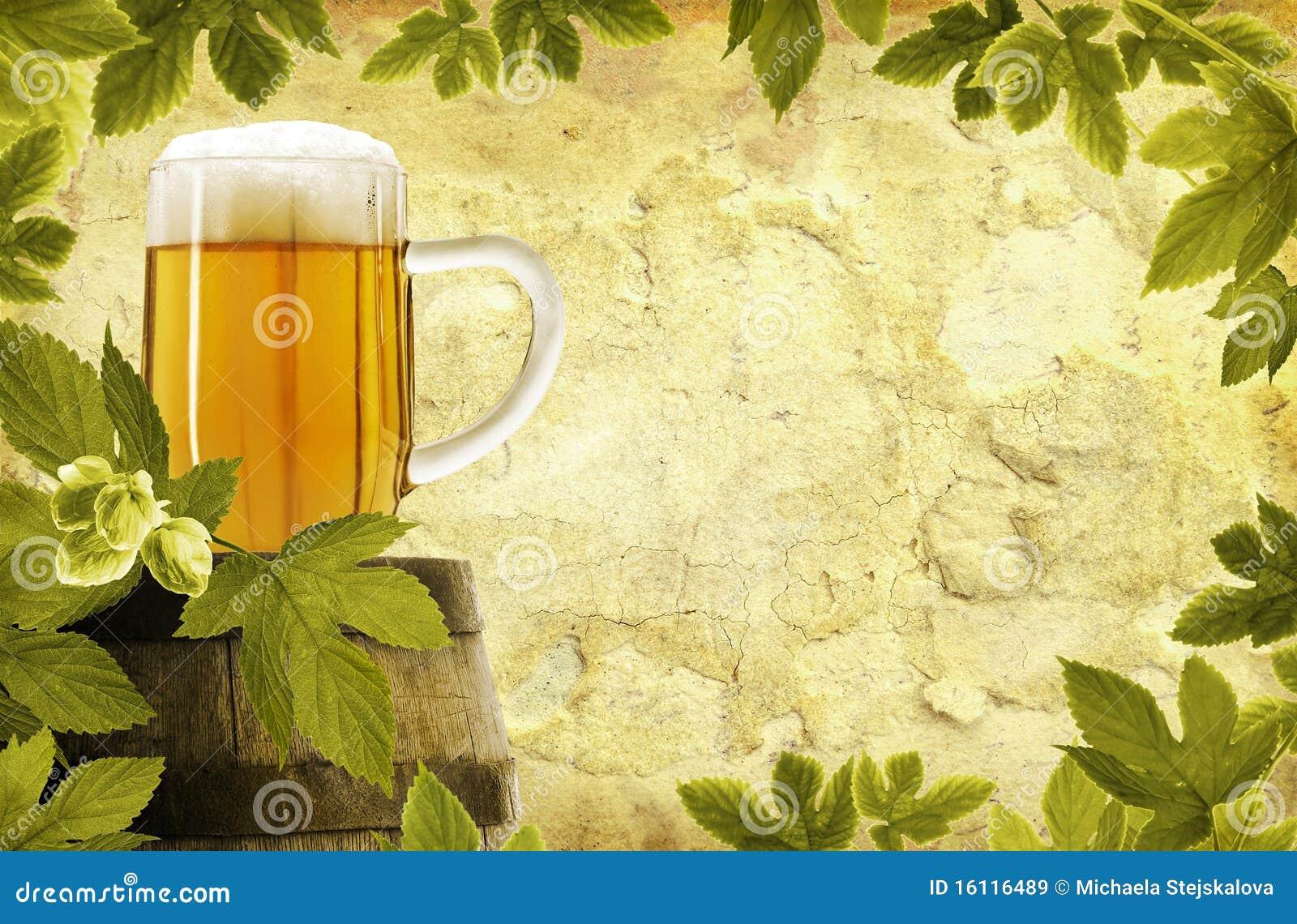 Retro beer background
