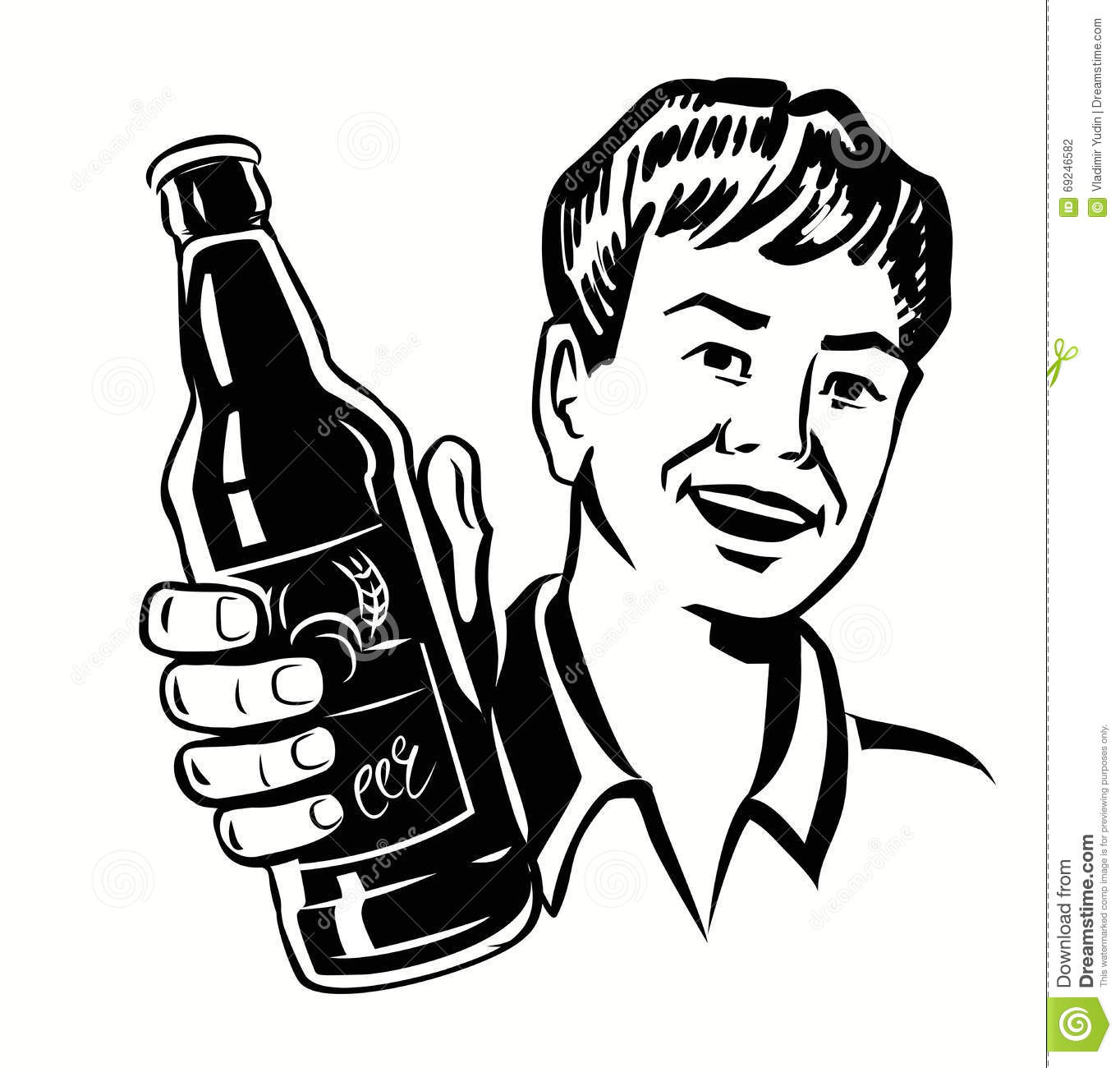 Retro Beer Guy Stock Vector Image Of Alcohol Graphic