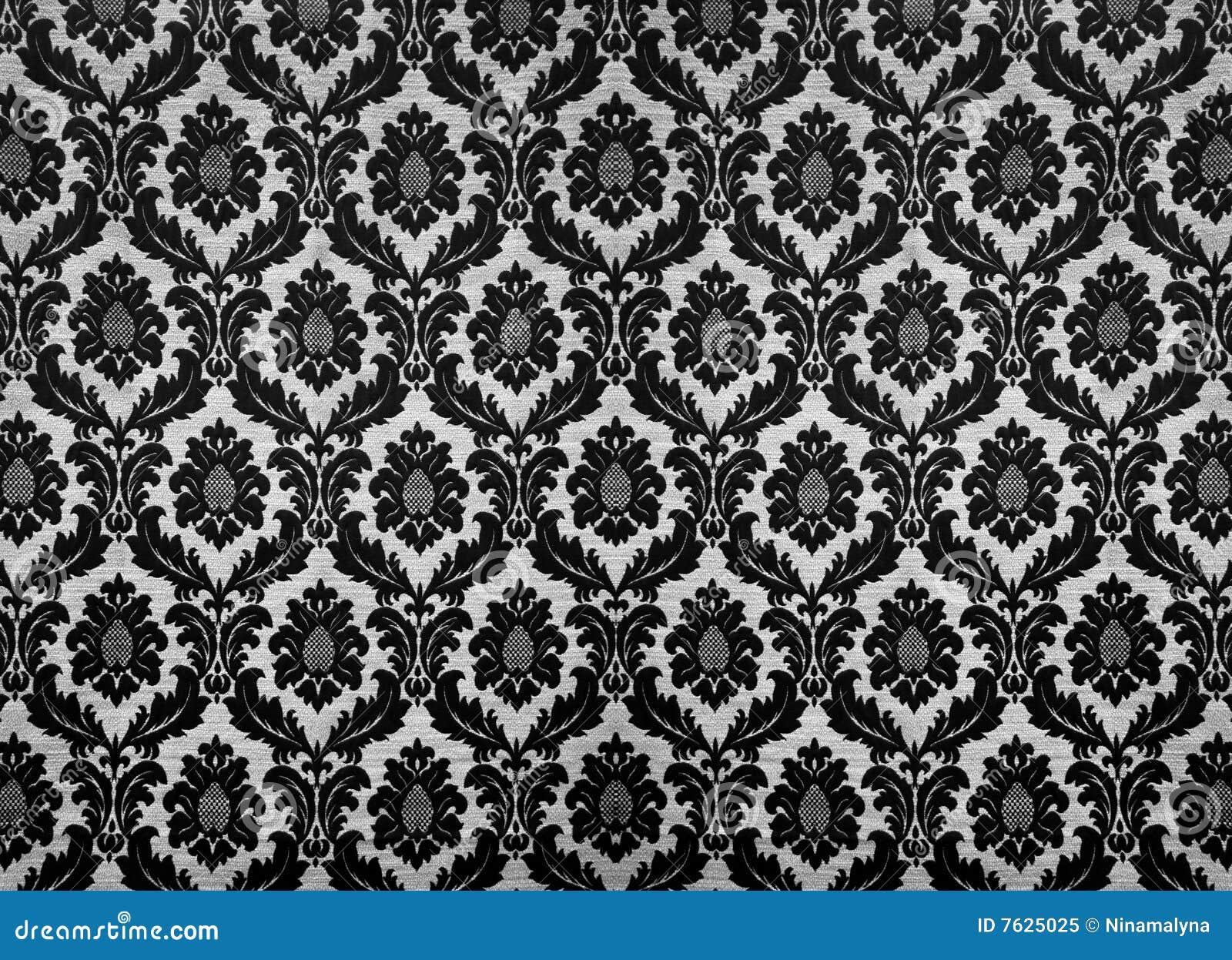 Behang Met Patroon : Retro behang stock afbeelding afbeelding bestaande uit gebladerte