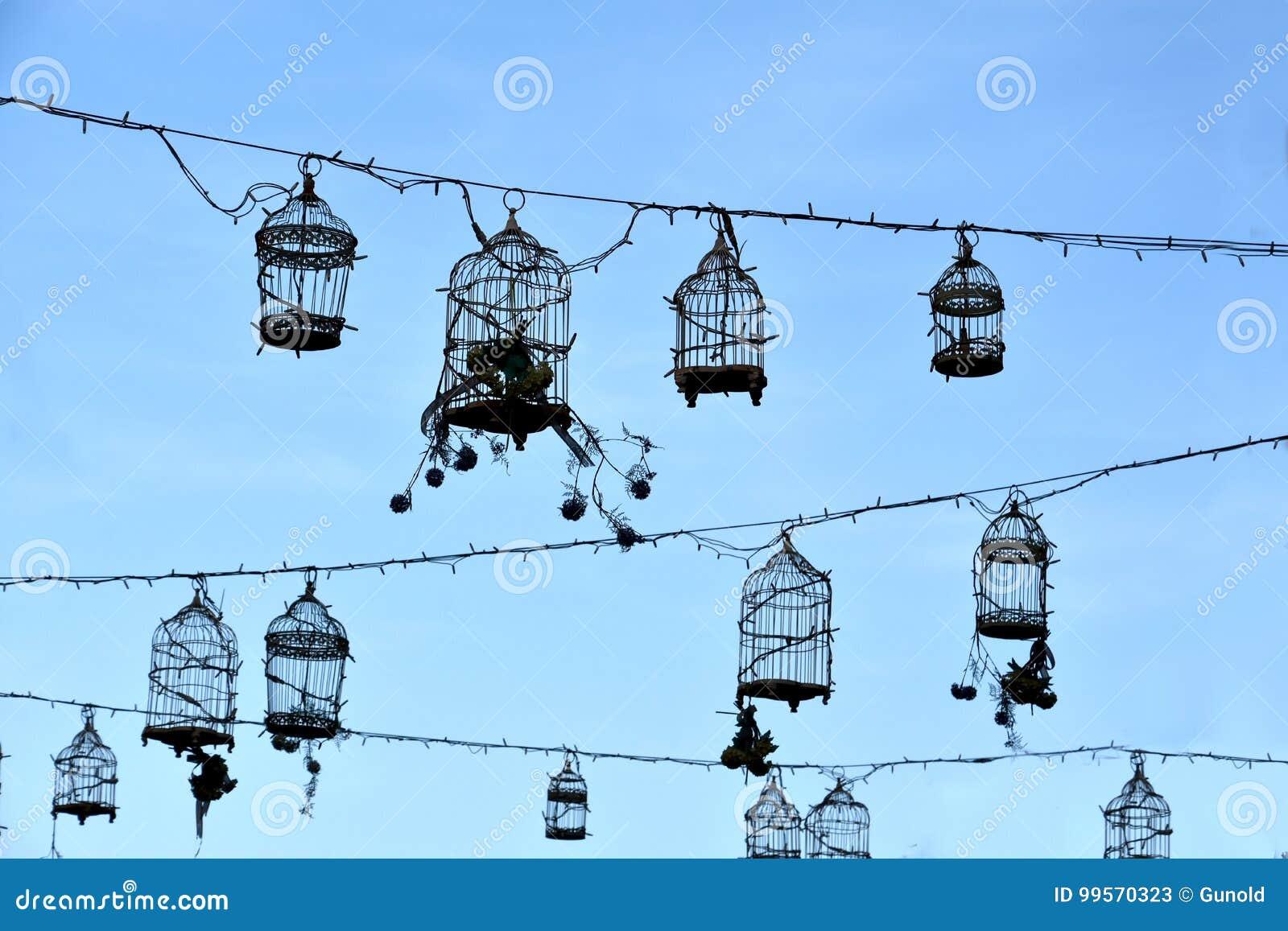 Retro birdcages, decoratie