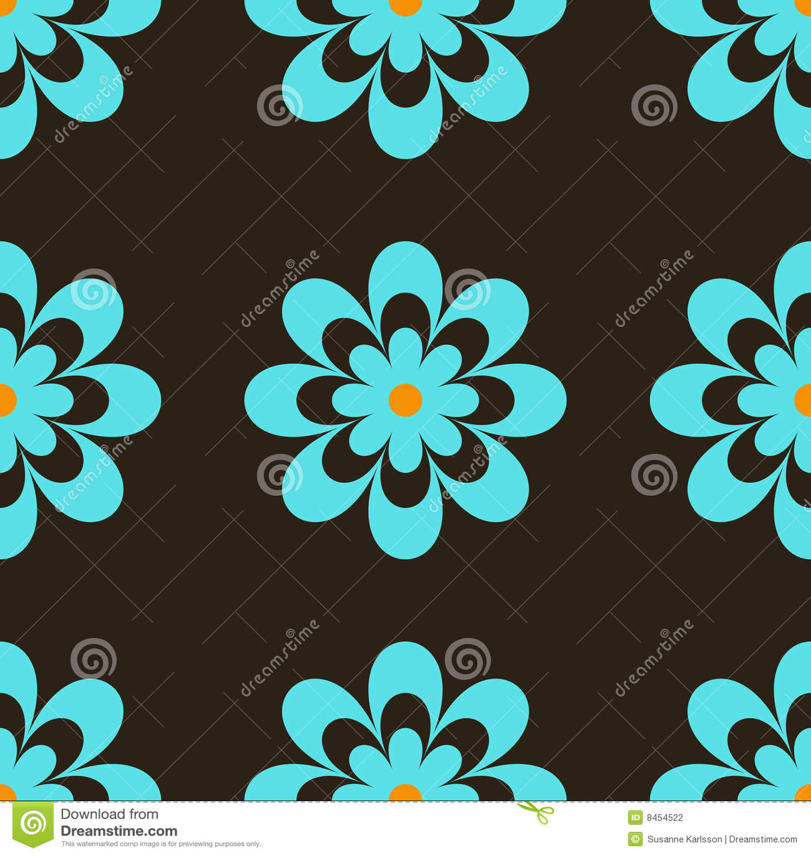 Retro blåa blommor