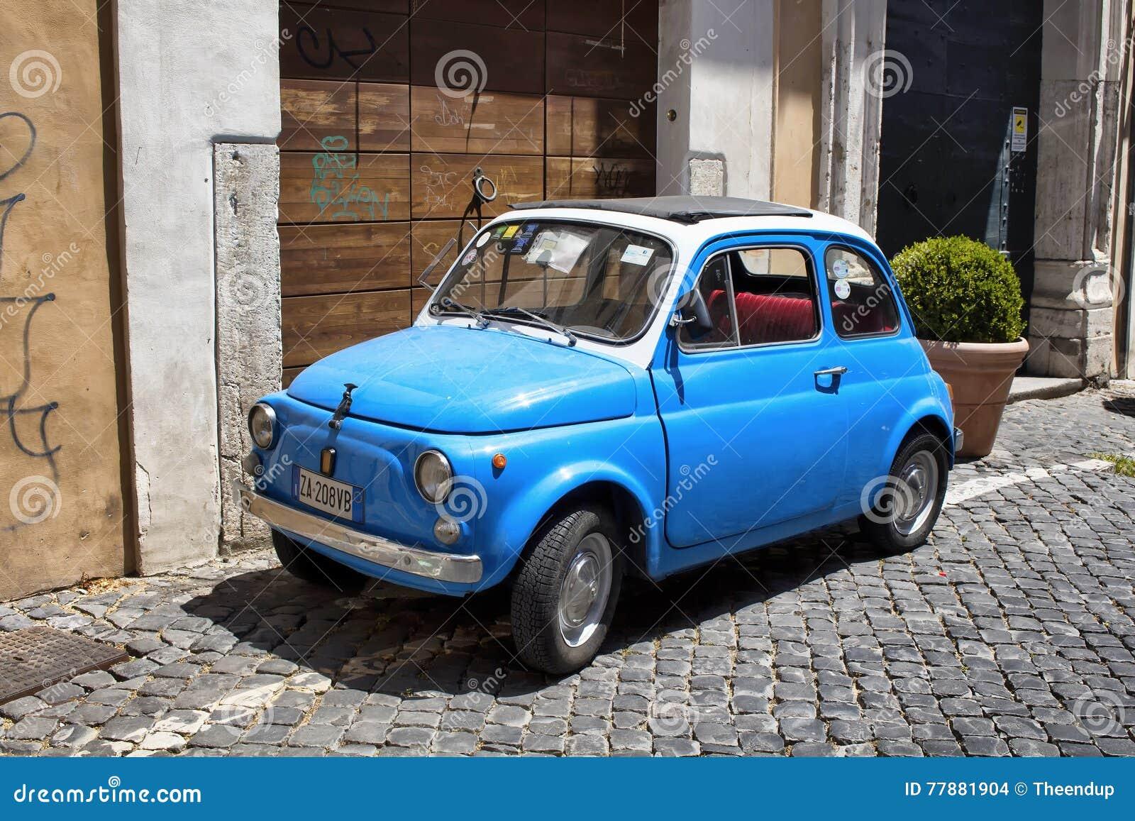 Retro Blau Wenig Altes Auto Redaktionelles Stockbild Bild Von