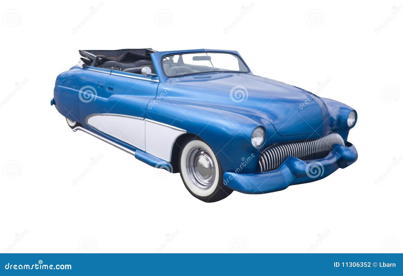 Retro- blaues Kabriolett