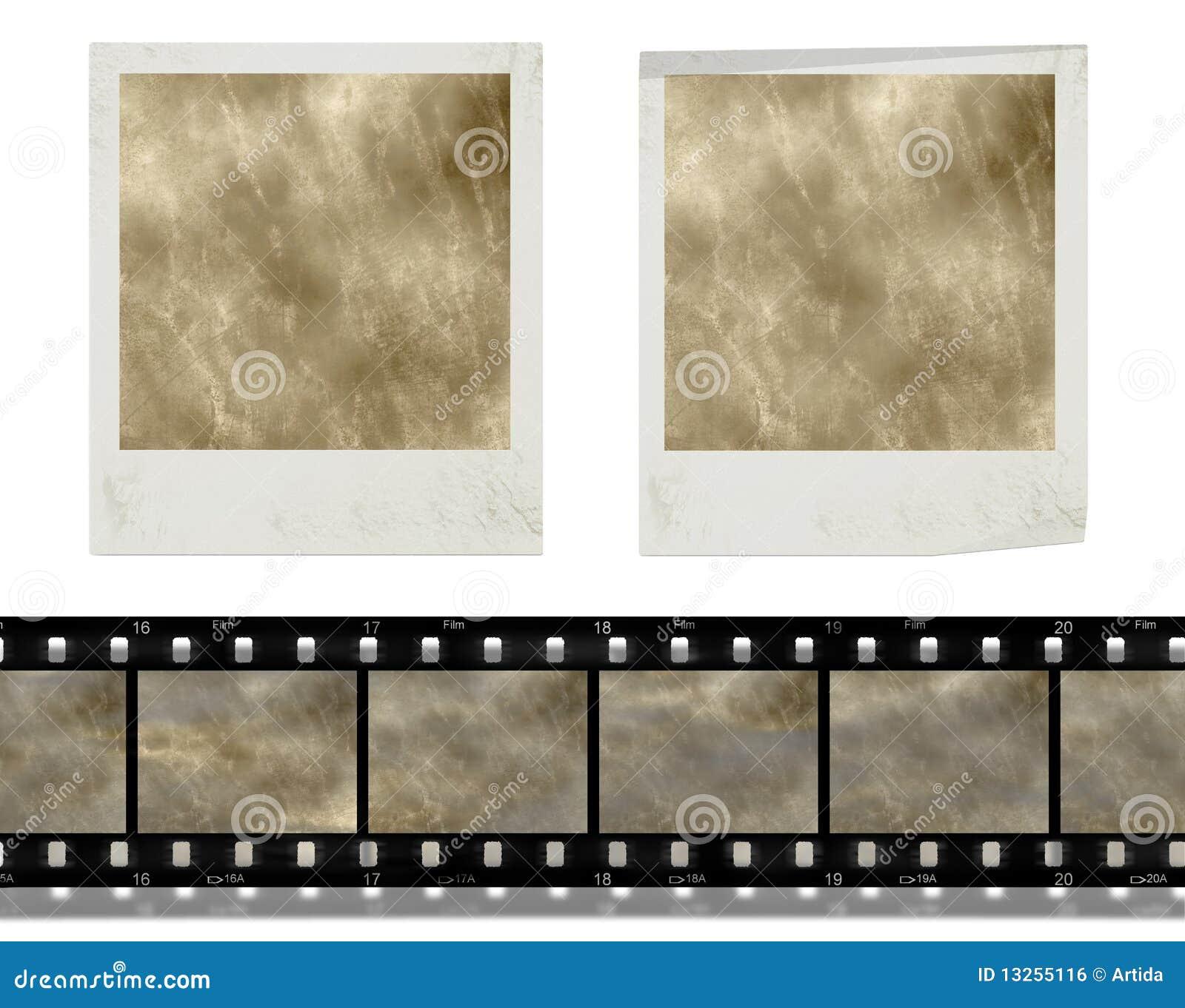 Retro blocchi per grafici e pellicola istanti della foto dell annata